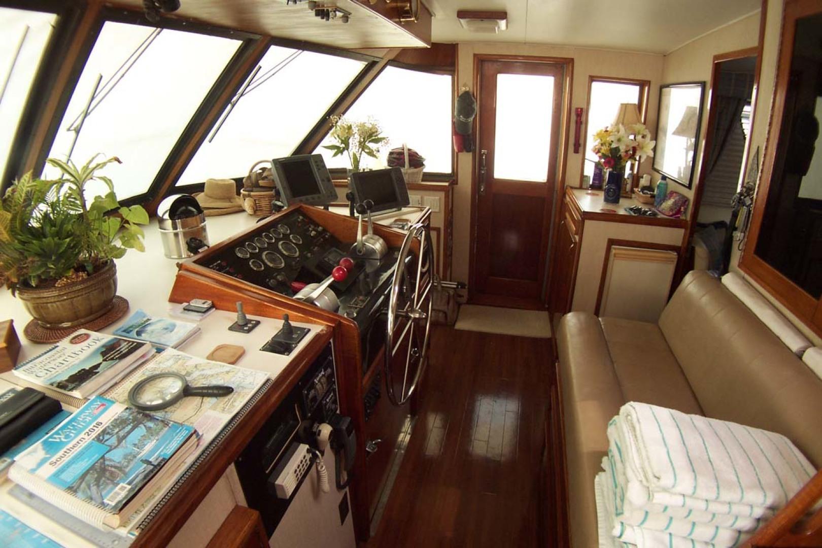 Hatteras-61 Motoryacht 1980-Piece A Cake Ft. Pierce-Florida-United States-Wheelhouse to Stbd-1094505 | Thumbnail