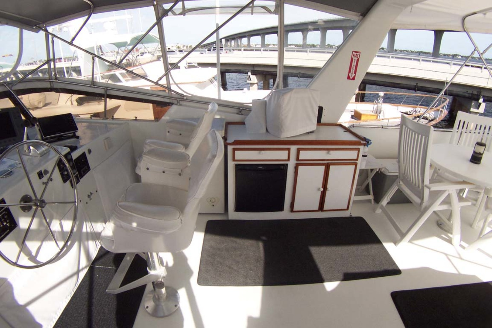 Hatteras-61 Motoryacht 1980-Piece A Cake Ft. Pierce-Florida-United States-Flybridge Stbd-1094539 | Thumbnail