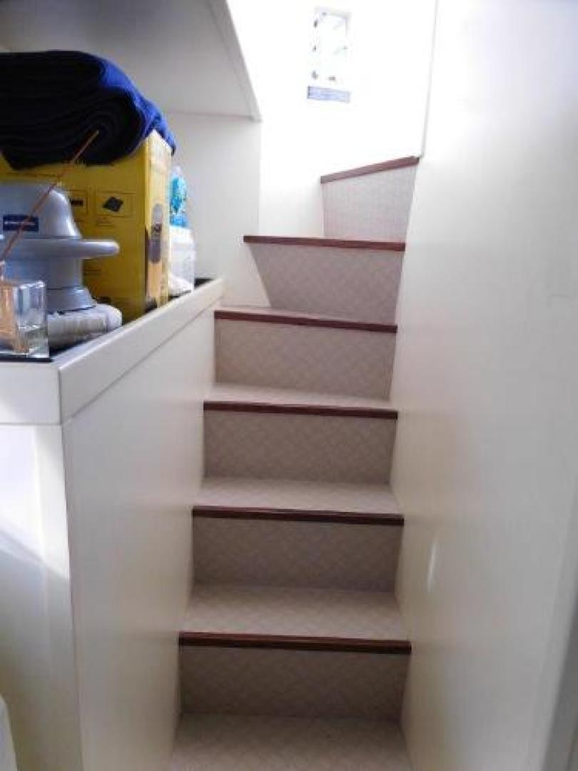 Ferretti Yachts-630 2009-BREAKAWAY Treasure Island-Florida-United States-Stairs from Aft Deck to Crew Area-1097563 | Thumbnail