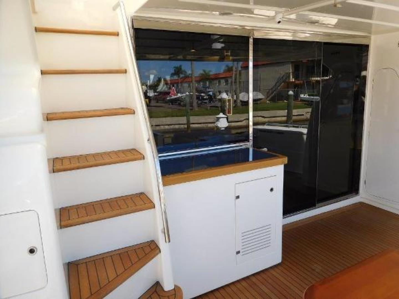 Ferretti Yachts-630 2009-BREAKAWAY Treasure Island-Florida-United States-Aft Deck  Stairs to Flybridge-1097546 | Thumbnail