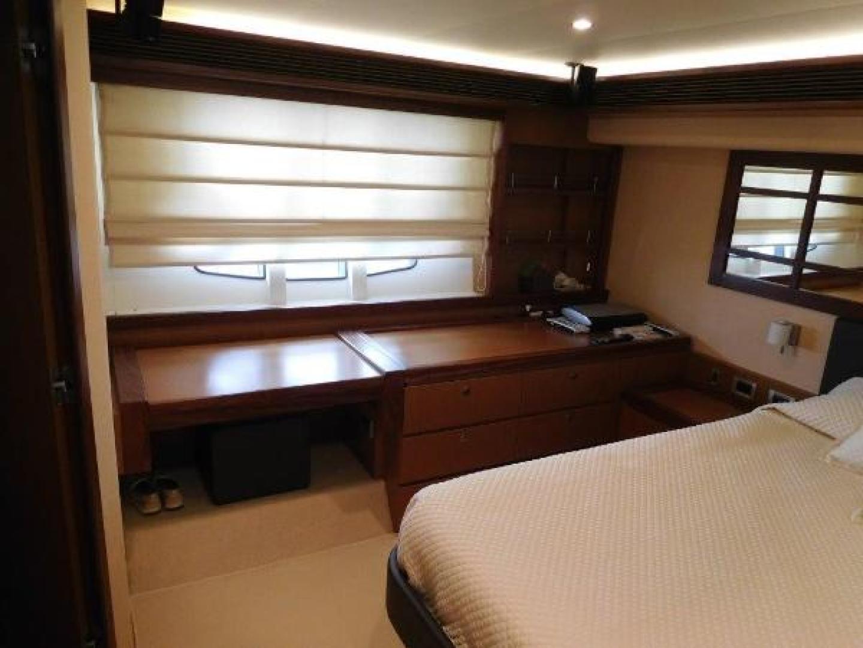 Ferretti Yachts-630 2009-BREAKAWAY Treasure Island-Florida-United States-Master Stateroom  Desk/Vanity and Stool-1097505 | Thumbnail