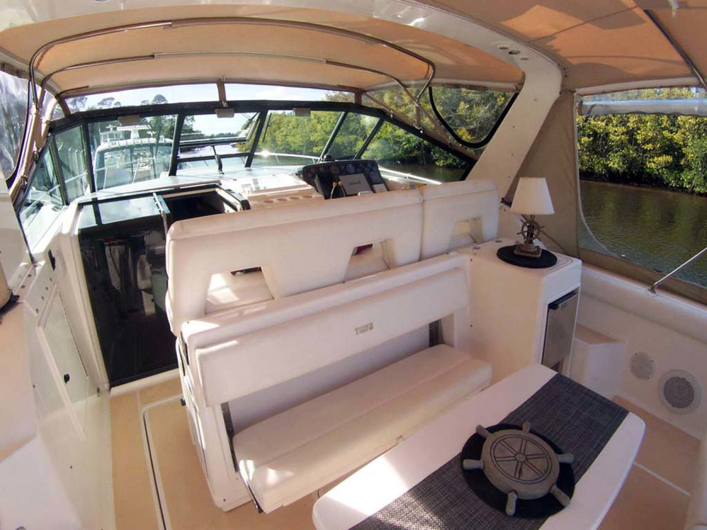 Tiara Yachts-Express 2001-ARGO Palm City-Florida-United States-Cockpit Forward to Starboard-1100832 | Thumbnail
