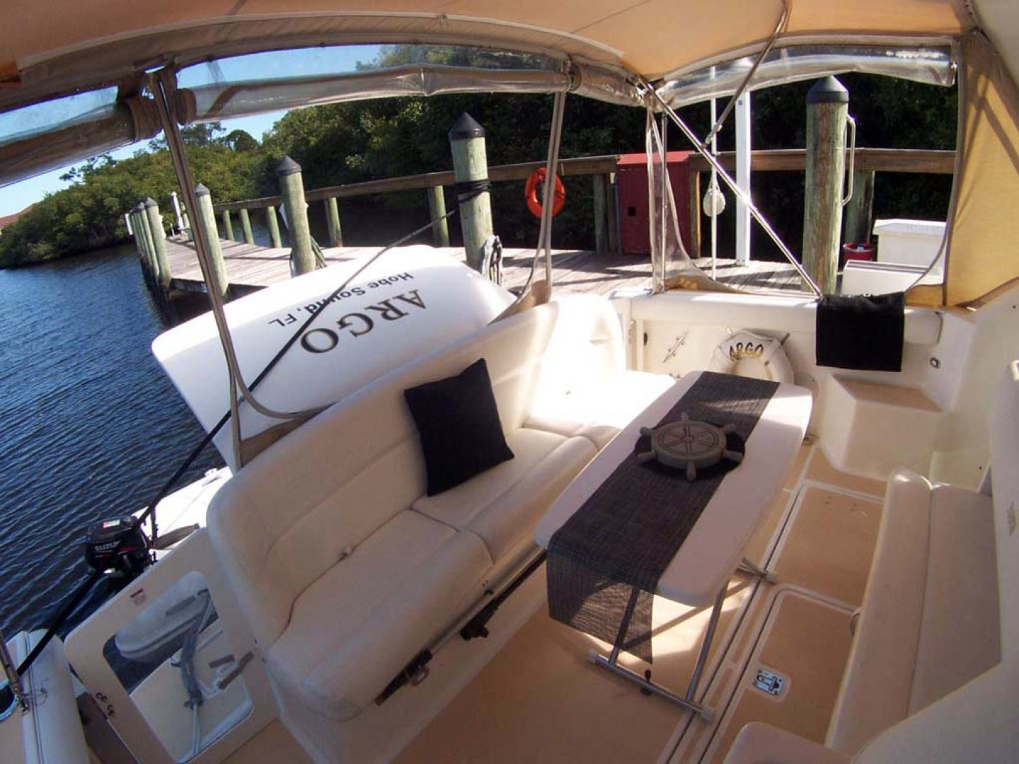 Tiara Yachts-Express 2001-ARGO Palm City-Florida-United States-Cockpit to Port Aft-1100834 | Thumbnail
