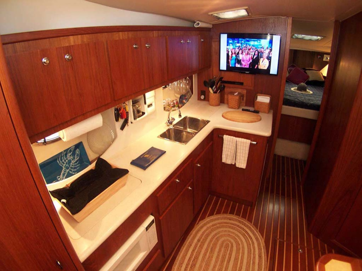Tiara Yachts-Express 2001-ARGO Palm City-Florida-United States-Galley to Port-1100819 | Thumbnail