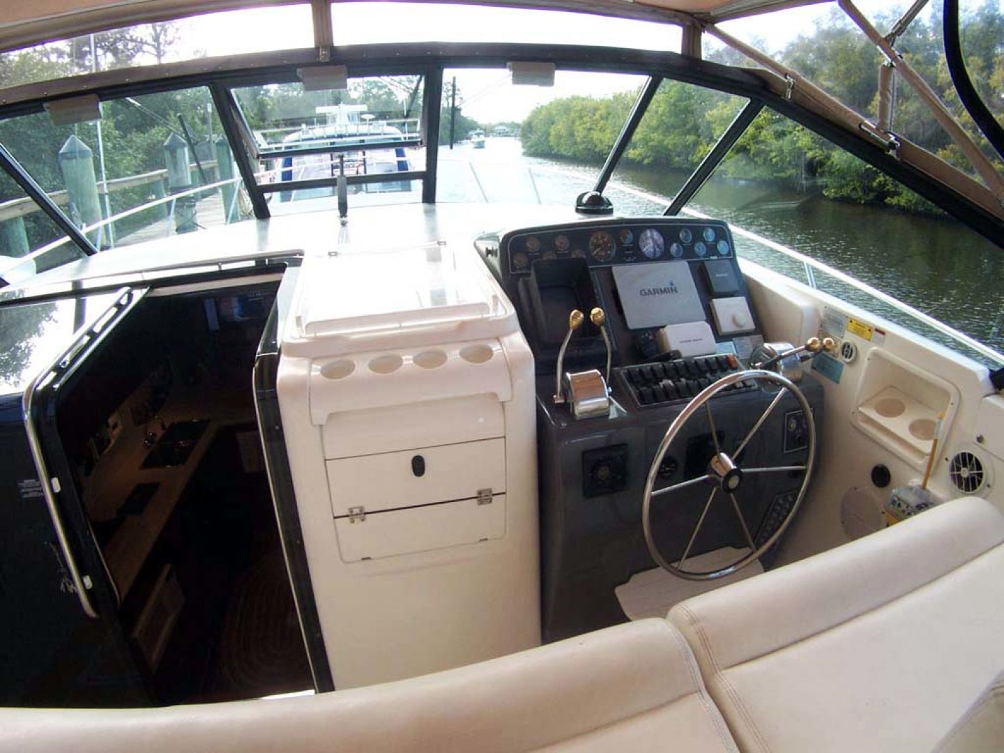 Tiara Yachts-Express 2001-ARGO Palm City-Florida-United States-Helm Area-1100830 | Thumbnail
