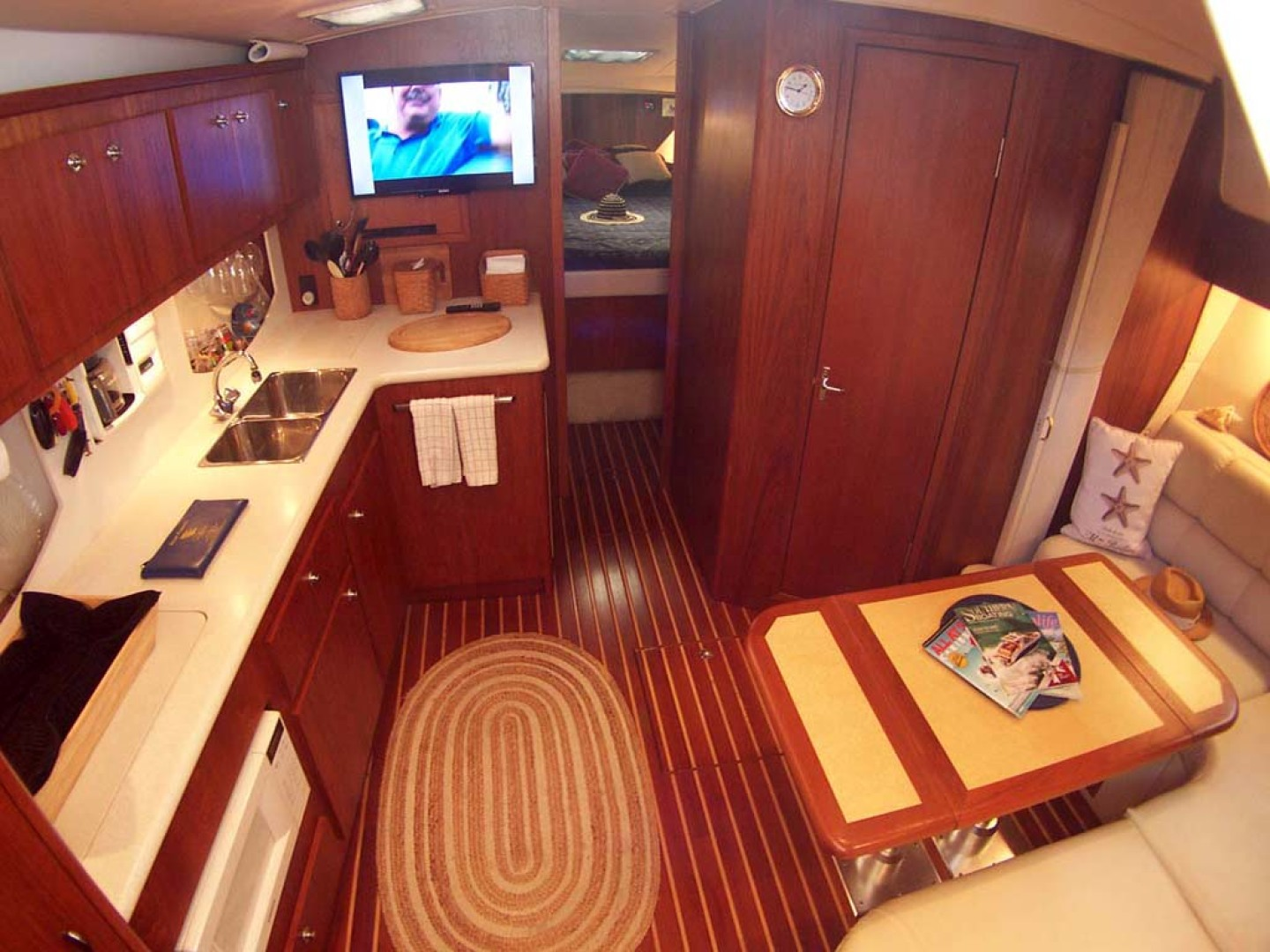 Tiara Yachts-Express 2001-ARGO Palm City-Florida-United States-View into Cabin from Passageway-1100821 | Thumbnail