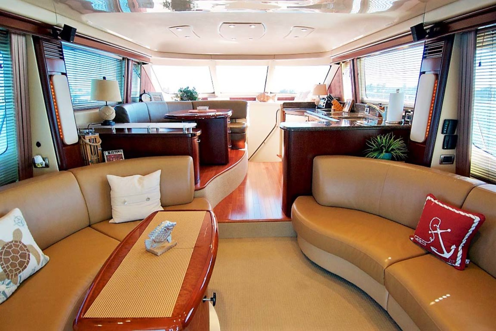 Sea Ray-58 Sedan Bridge 2006-Livin Large IV Jupiter-Florida-United States-Salon Layout-1103674 | Thumbnail