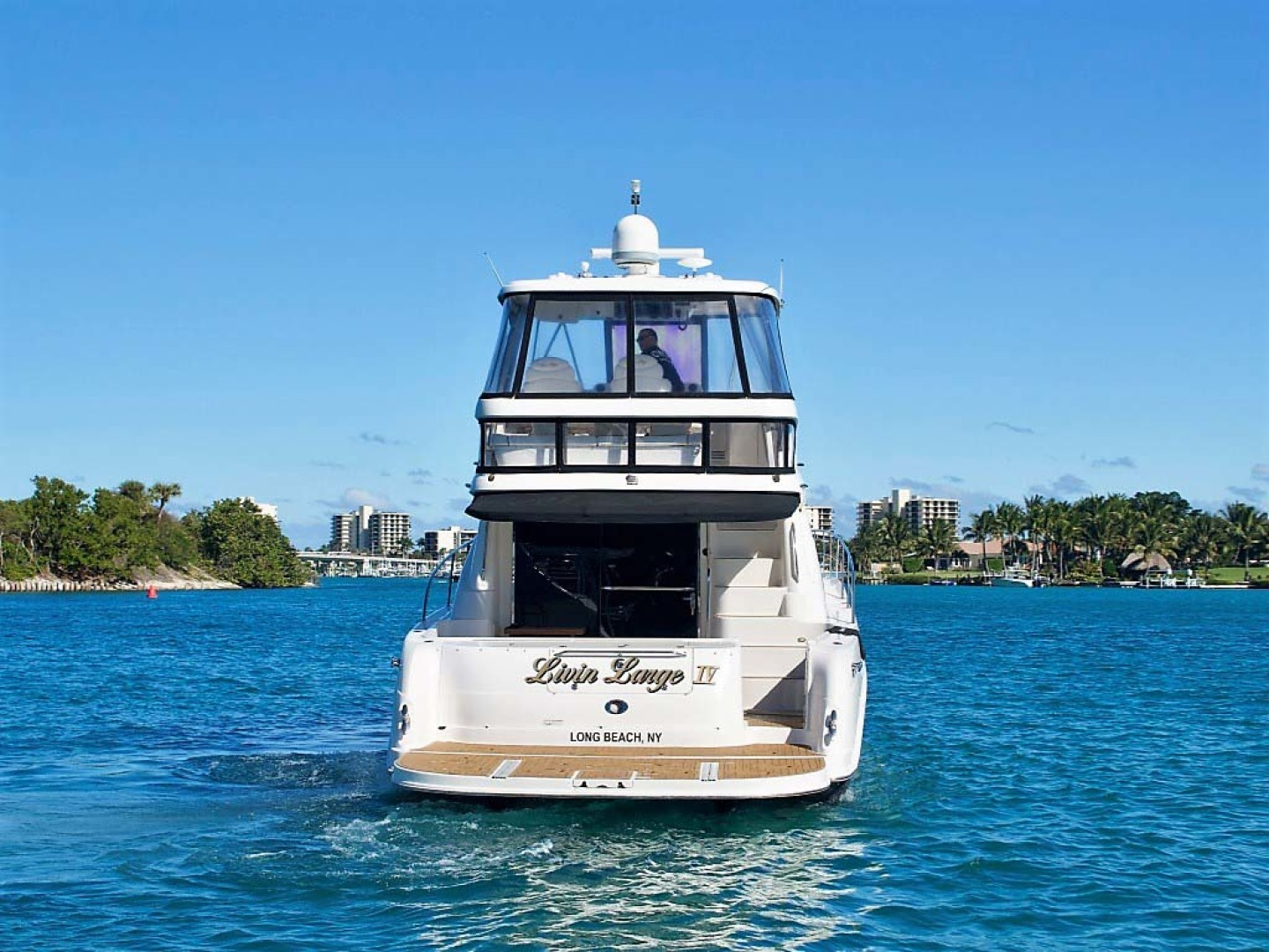 Sea Ray-58 Sedan Bridge 2006-Livin Large IV Jupiter-Florida-United States-Transom-1103717 | Thumbnail