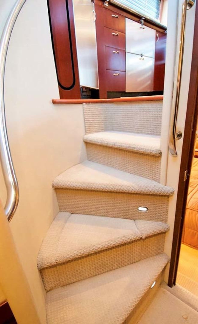 Sea Ray-58 Sedan Bridge 2006-Livin Large IV Jupiter-Florida-United States-Companionway Steps-1103700 | Thumbnail