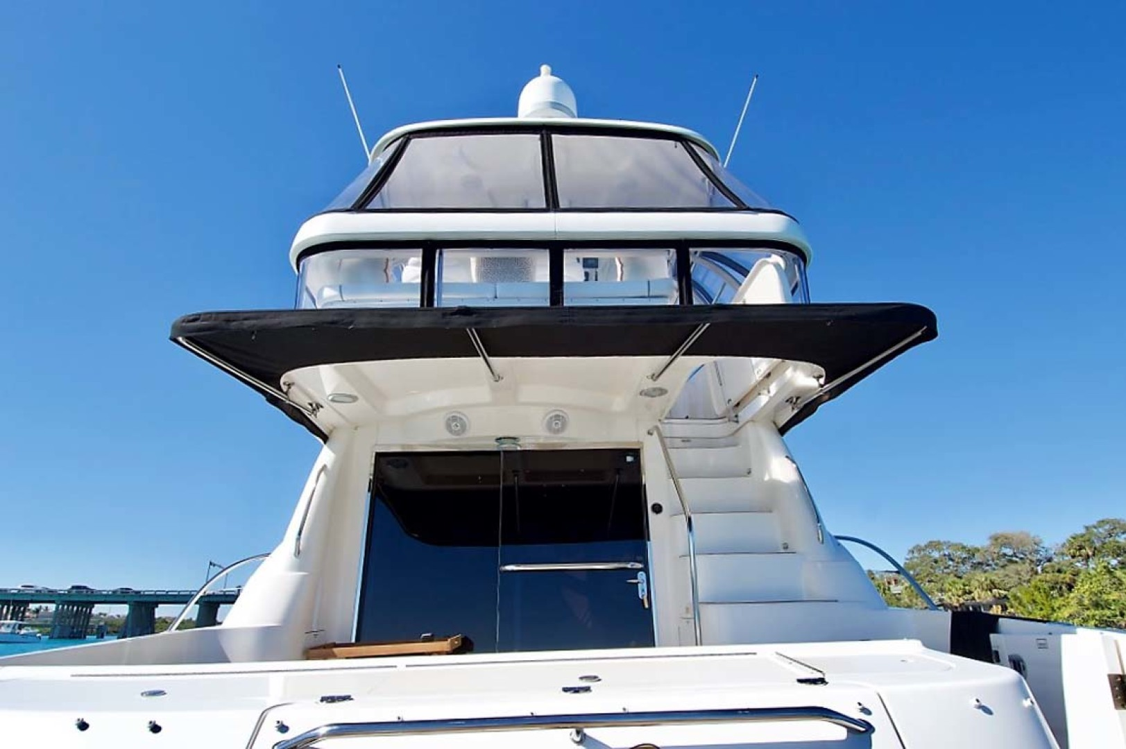 Sea Ray-58 Sedan Bridge 2006-Livin Large IV Jupiter-Florida-United States-Cockpit Sunshade-1103709 | Thumbnail
