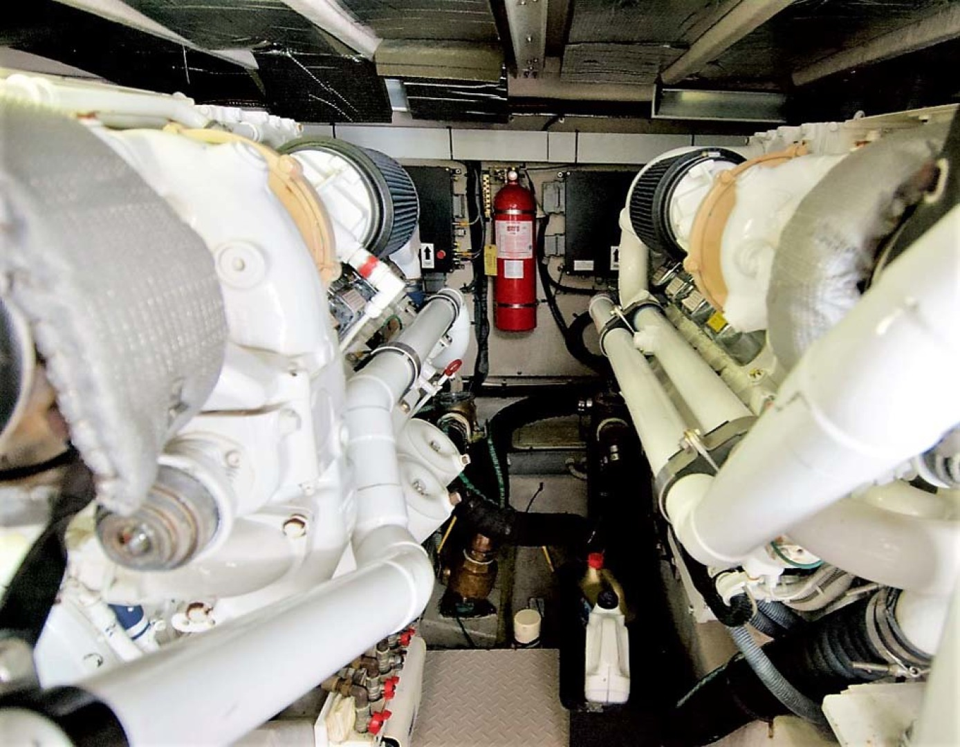 Sea Ray-58 Sedan Bridge 2006-Livin Large IV Jupiter-Florida-United States-Engine Room-1103715 | Thumbnail