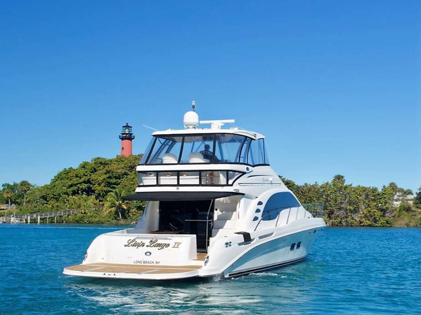 Sea Ray-58 Sedan Bridge 2006-Livin Large IV Jupiter-Florida-United States-Aft Profile-1103666 | Thumbnail