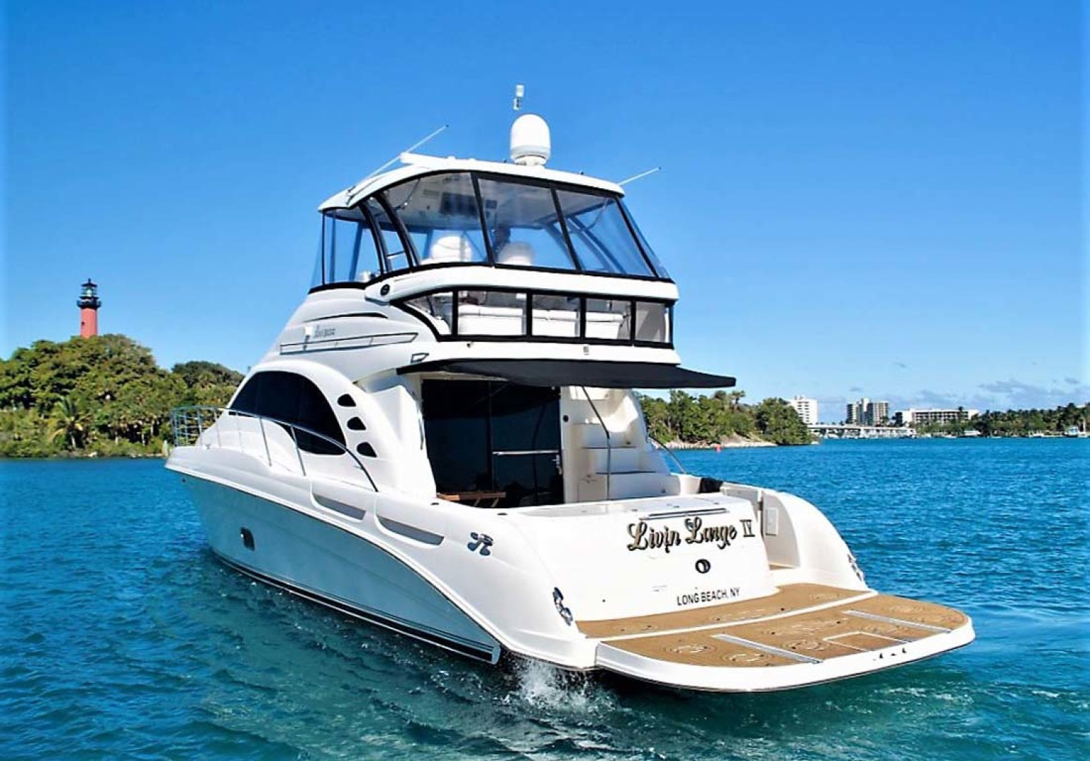 Sea Ray-58 Sedan Bridge 2006-Livin Large IV Jupiter-Florida-United States-Port Quarter-1103664 | Thumbnail