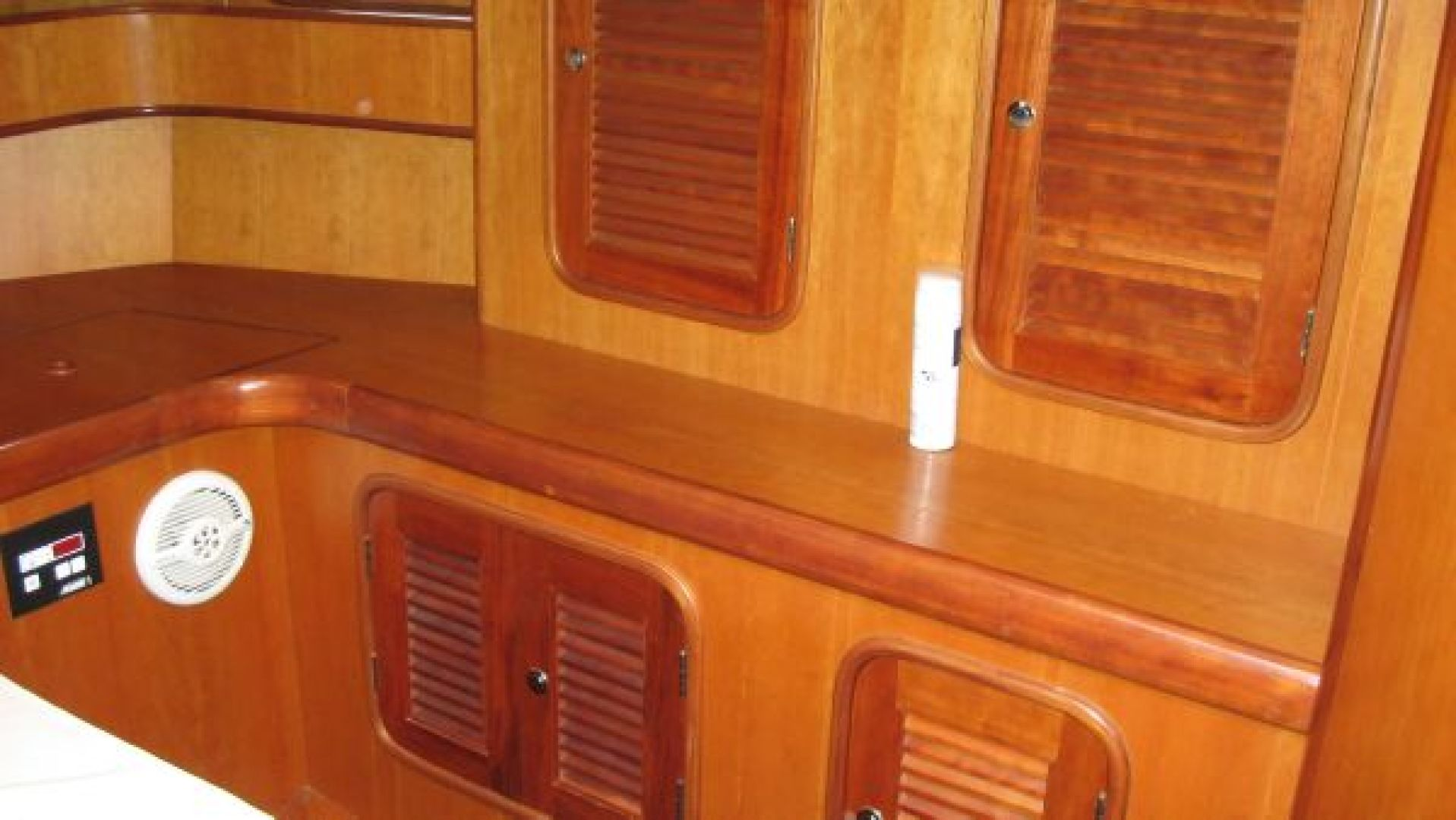 Tayana-58 Deck Saloon 2006-Majestic San Diego-California-United States-Storage in the Master Cabin-1110939 | Thumbnail