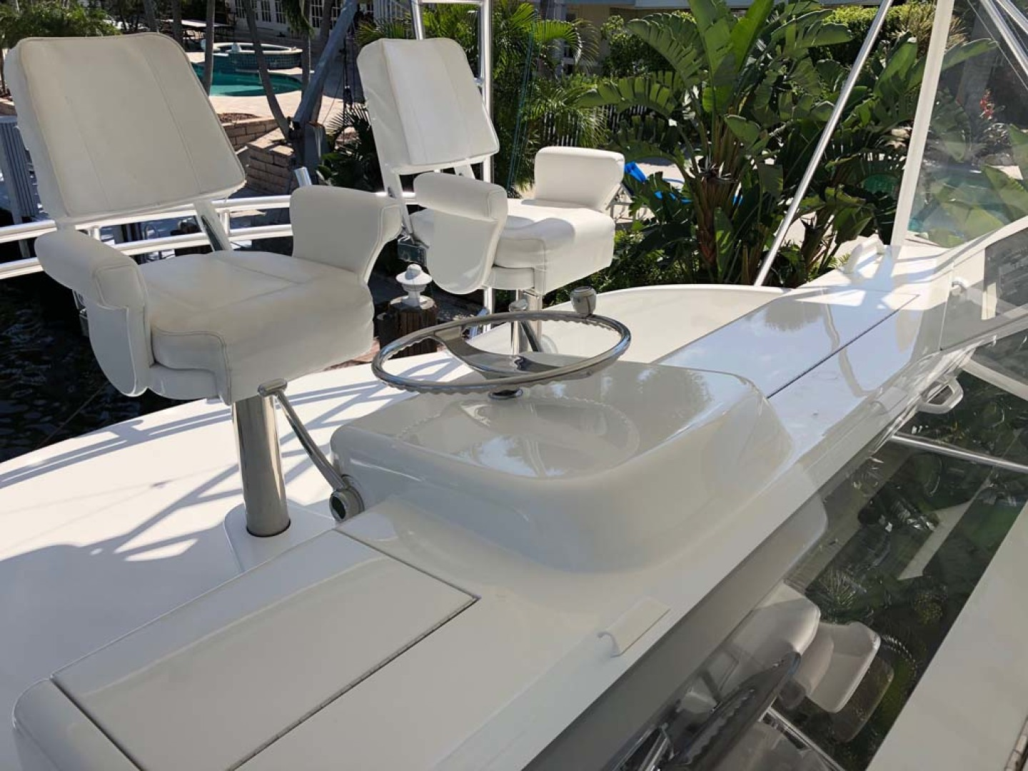 Viking-61 Convertible 2004-Melissa Pompano Beach-Florida-United States-Helm Area-1116636 | Thumbnail