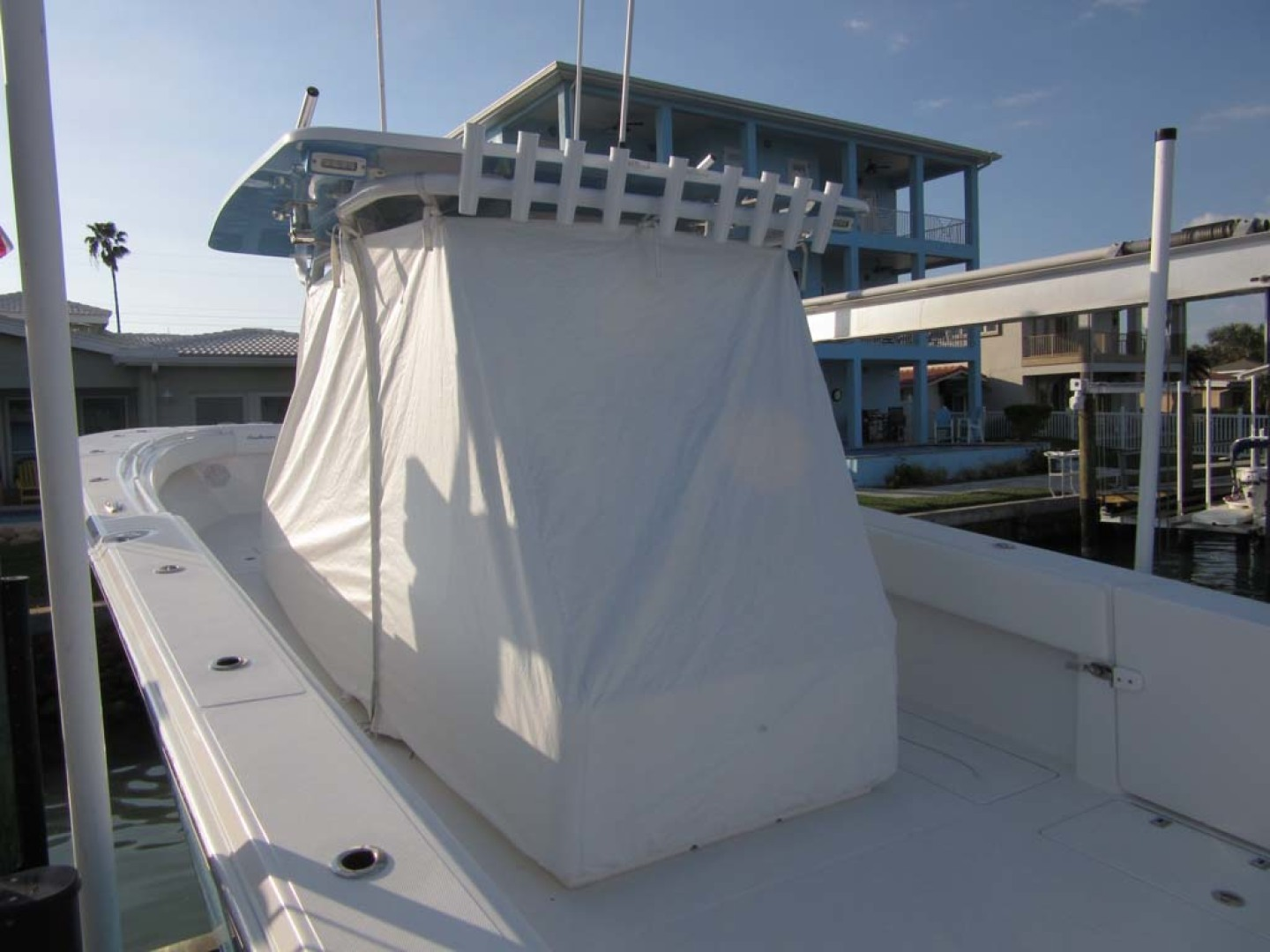 SeaHunter-39 Center Console 2017-SQUEEZE PLAY II Madeira Beach-Florida-United States-Console Skirt Custom Cover-1117899 | Thumbnail