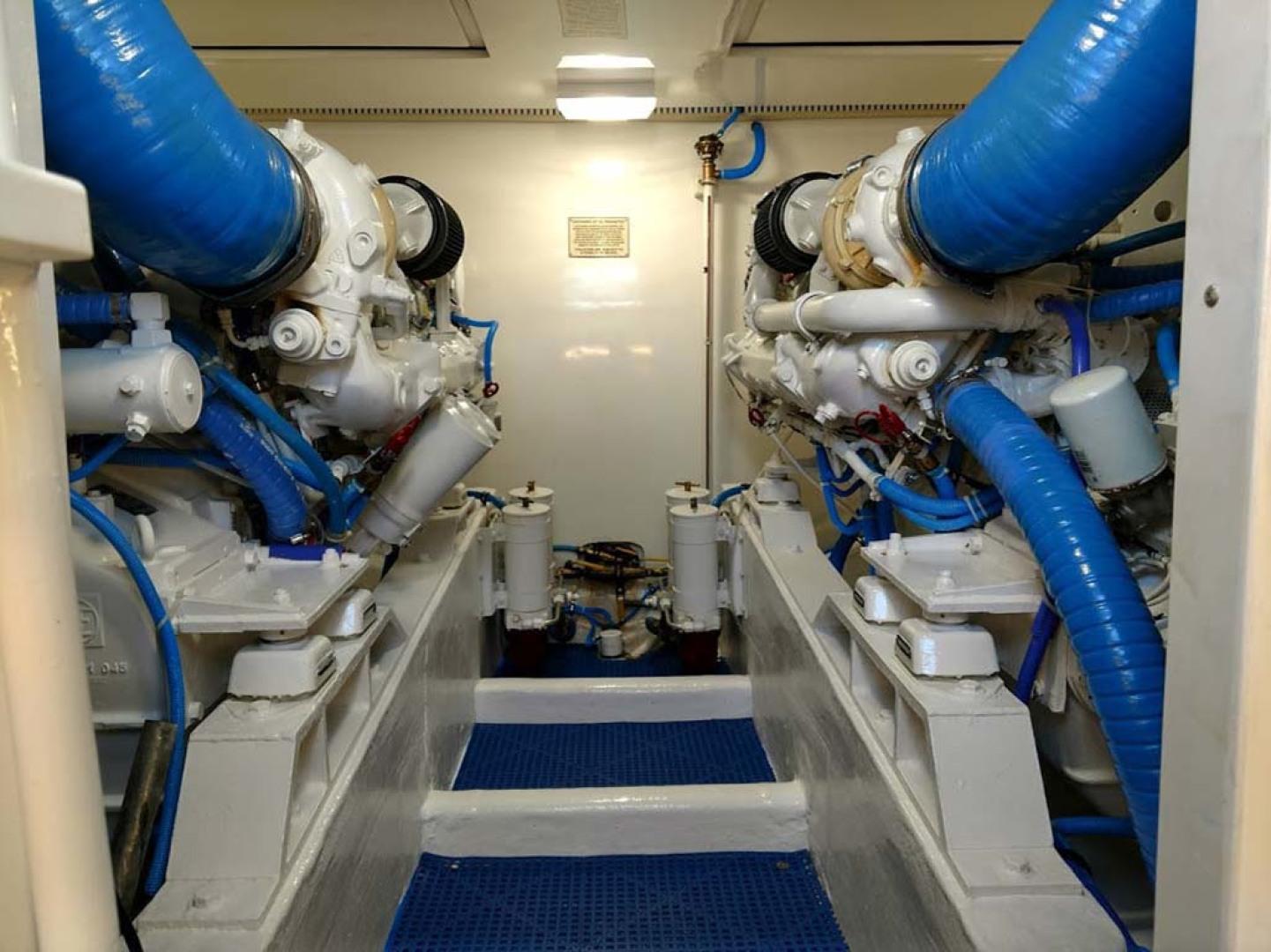 Bertram-510 Convertible 2002-Mary B Oceans Edge Hotel and Marina, Key West-Florida-United States-Engine Room-1163319 | Thumbnail