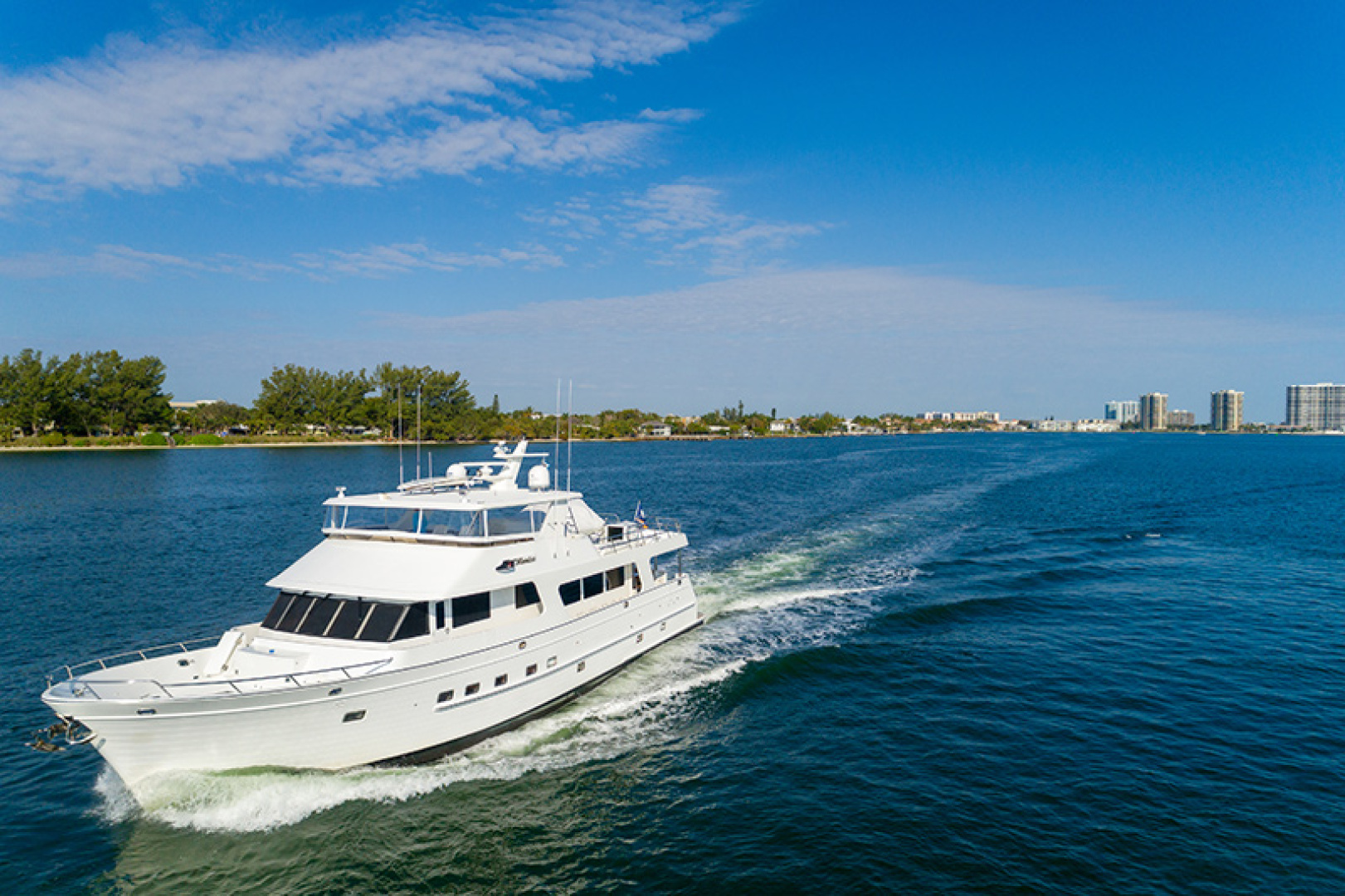 Outer Reef Yachts-Raised Pilothouse 2007-MS. MONICA Palm Beach Gardens-Florida-United States-Port Bow Running-1119580   Thumbnail