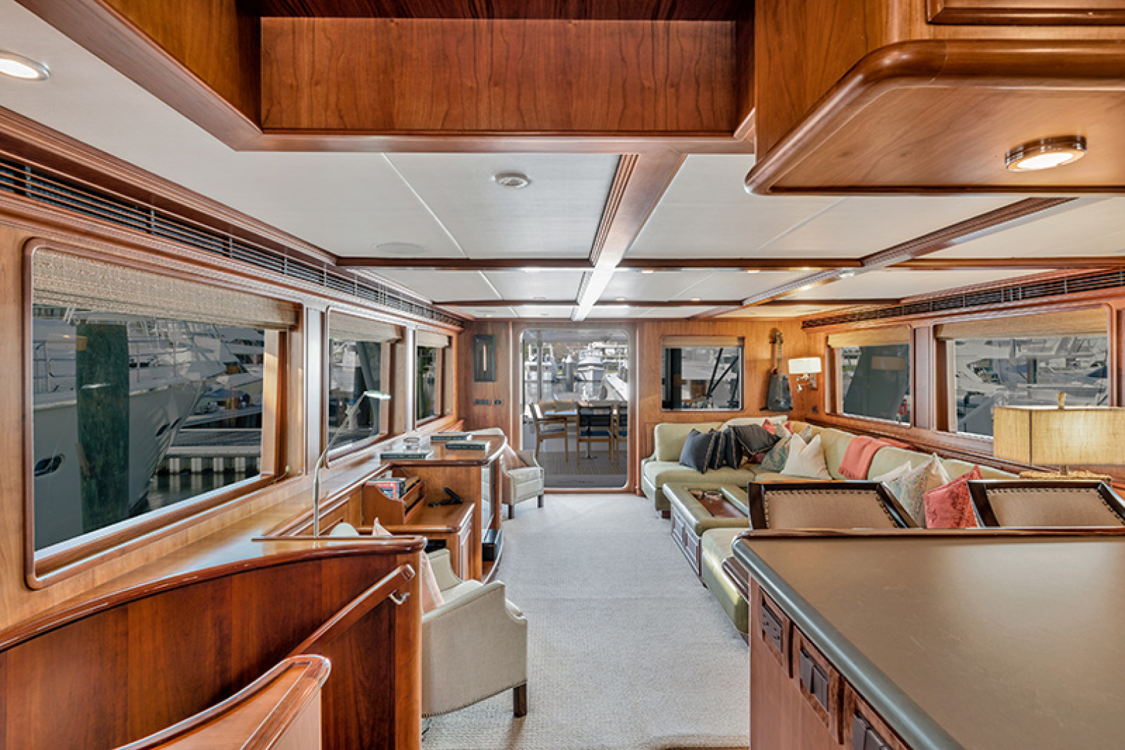 Outer Reef Yachts-Raised Pilothouse 2007-MS. MONICA Palm Beach Gardens-Florida-United States-Main Salon Looking Aft-1119555   Thumbnail