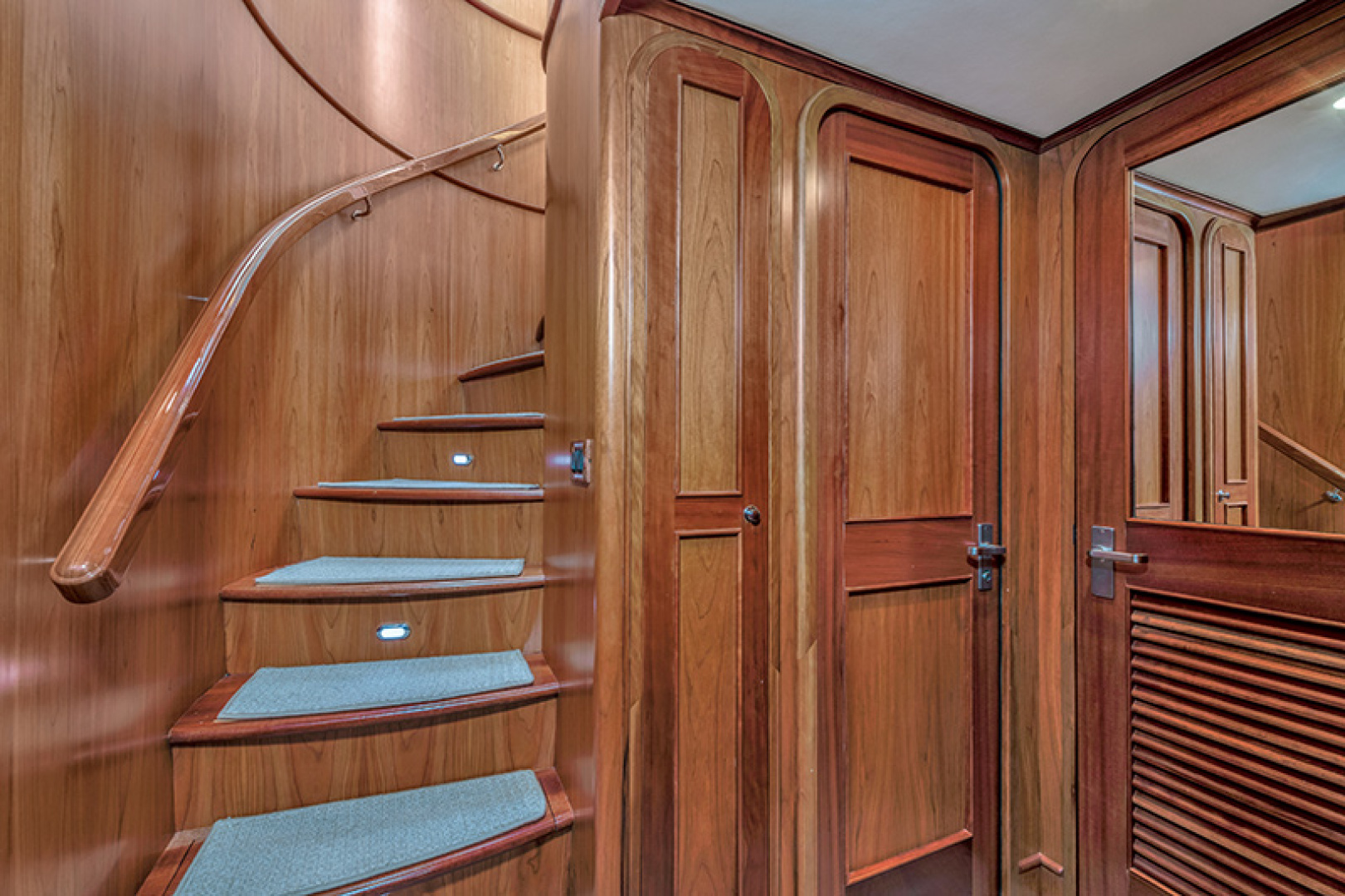 Outer Reef Yachts-Raised Pilothouse 2007-MS. MONICA Palm Beach Gardens-Florida-United States-Forward Stairway to Guest Staterooms-1119584   Thumbnail