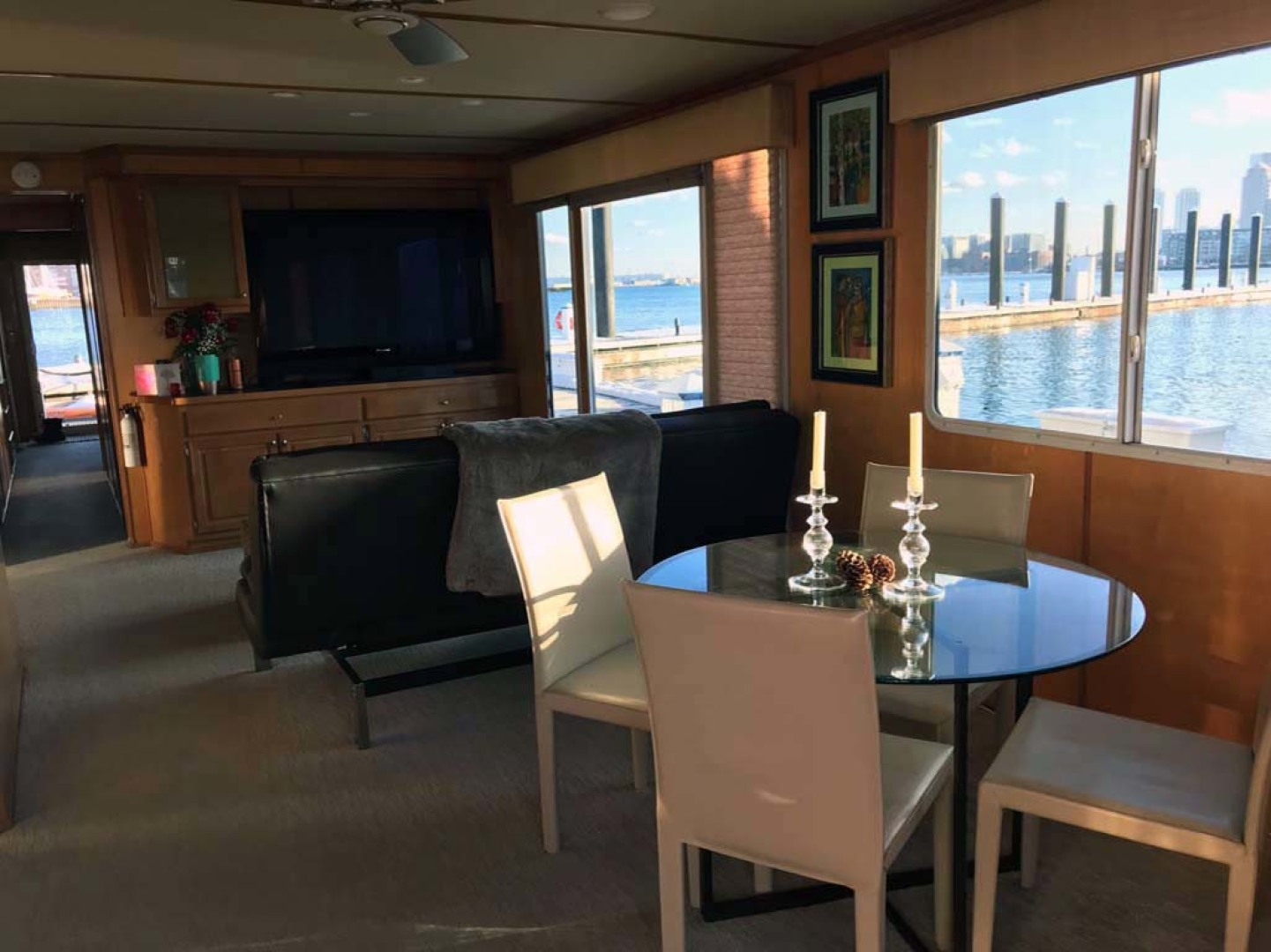 Horizon-66 Houseboat 2007-Carpe Diem Boston-Massachusetts-United States-Galley/Salon View Looking Aft-1120075 | Thumbnail