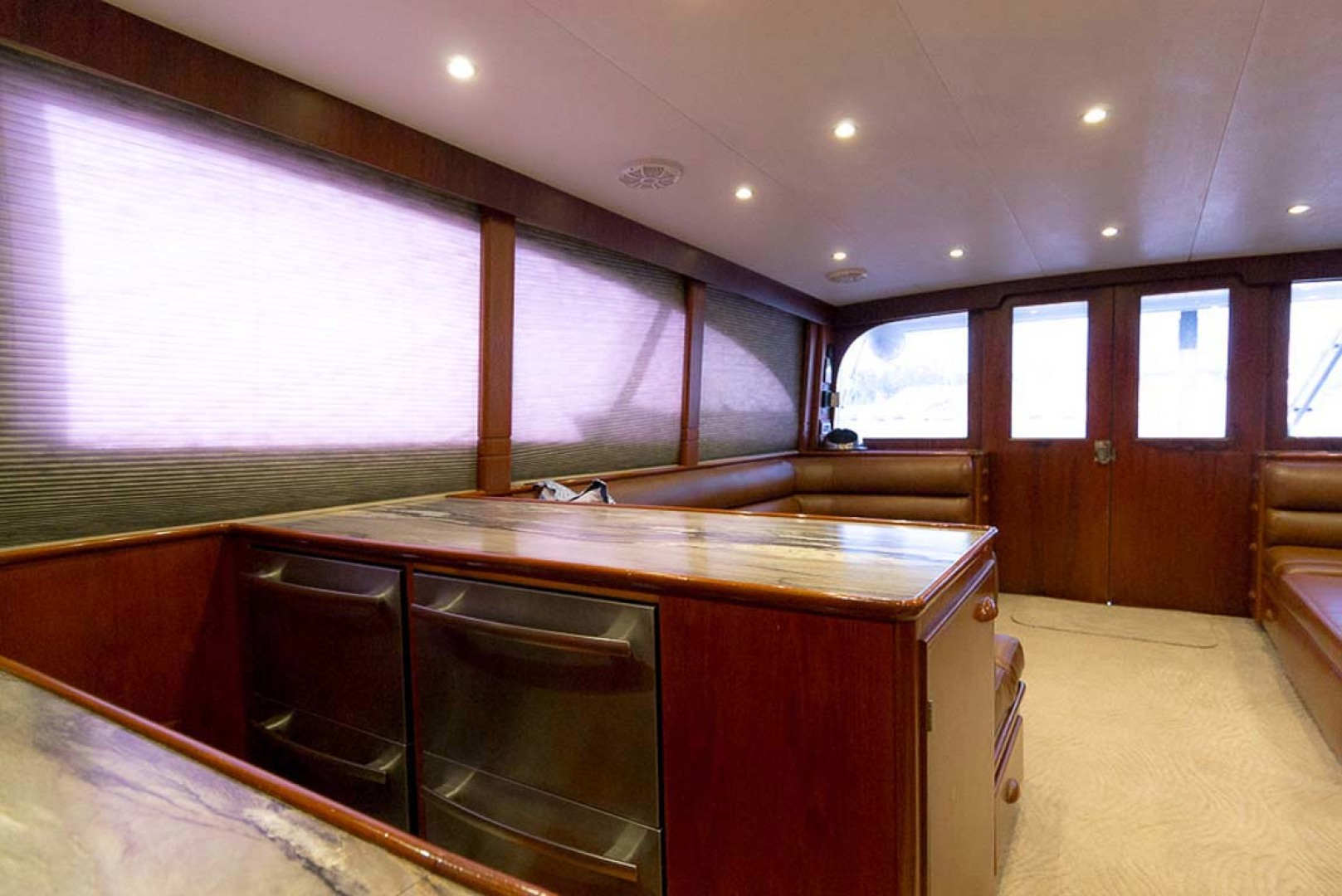 Garlington-58 Convertible 1988-Hey Girl Belize-Starboard Galley Looking Aft-1121735 | Thumbnail
