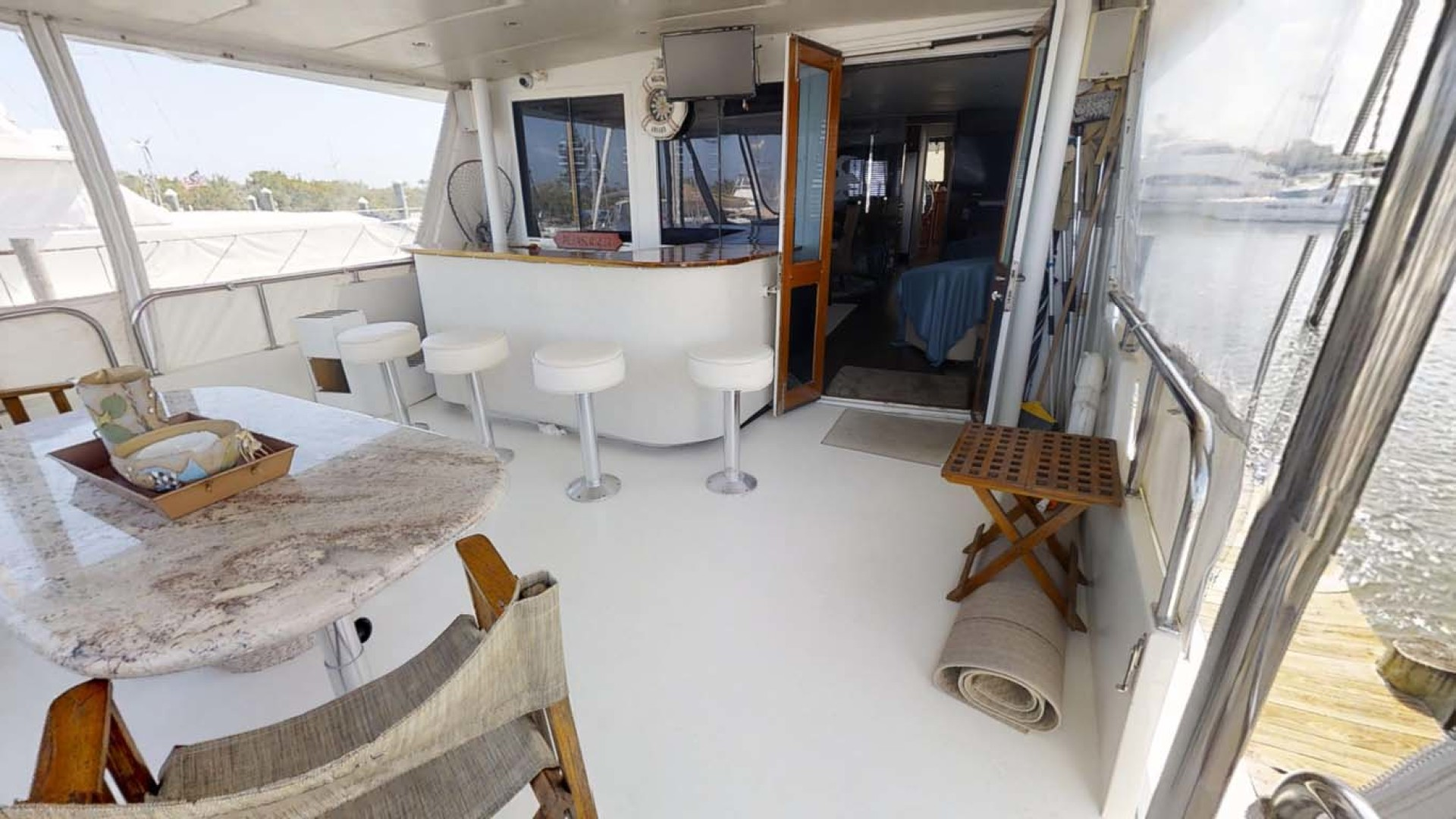 Hatteras-74 Motor Yacht 1981-Pleasurizer Fort Pierce-Florida-United States-Aft Deck-1122246 | Thumbnail