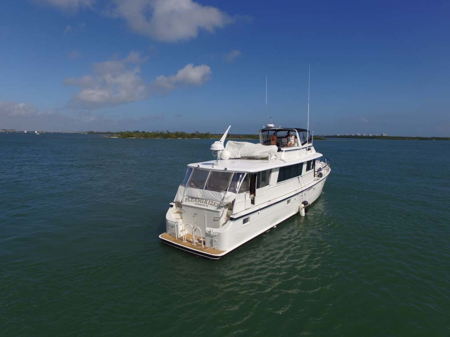 Hatteras-74 Motor Yacht 1981-Pleasurizer Fort Pierce-Florida-United States-Starboard Stern-1122241 | Thumbnail