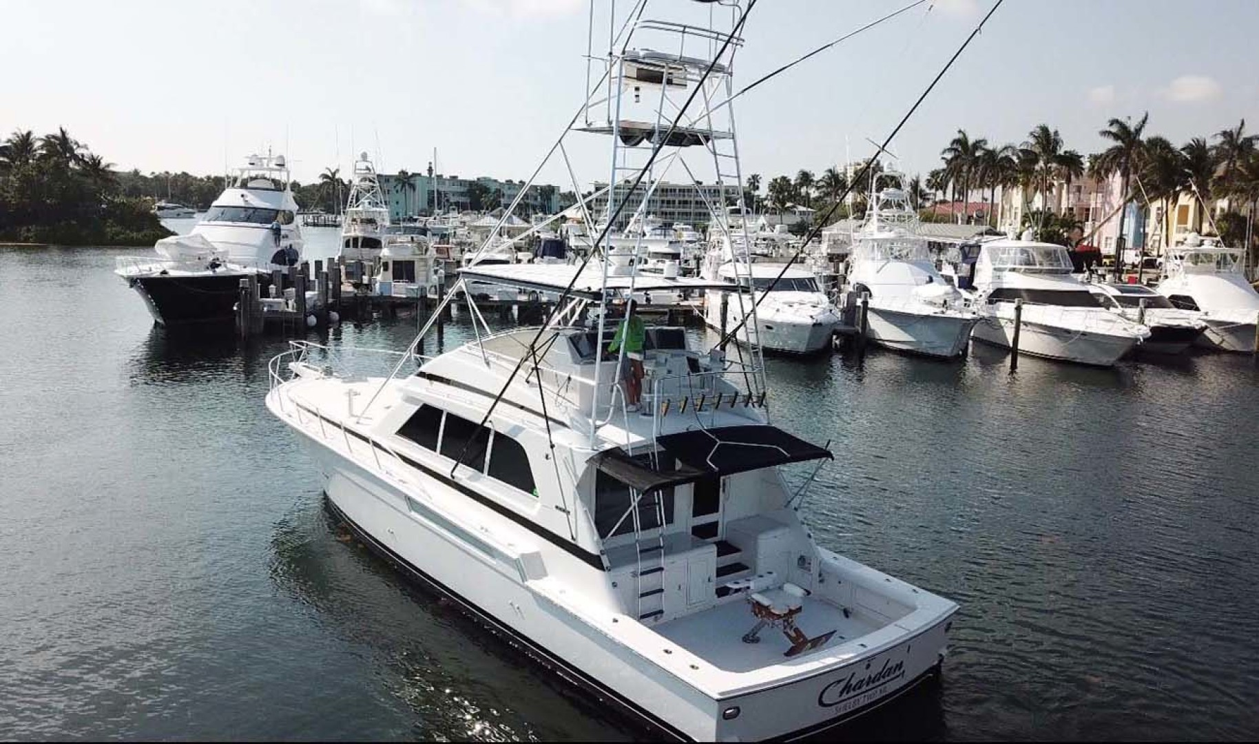 Bertram-60 Convertible 1998-CHARDAN Lighthouse Point-Florida-United States-Stern View-1124640 | Thumbnail