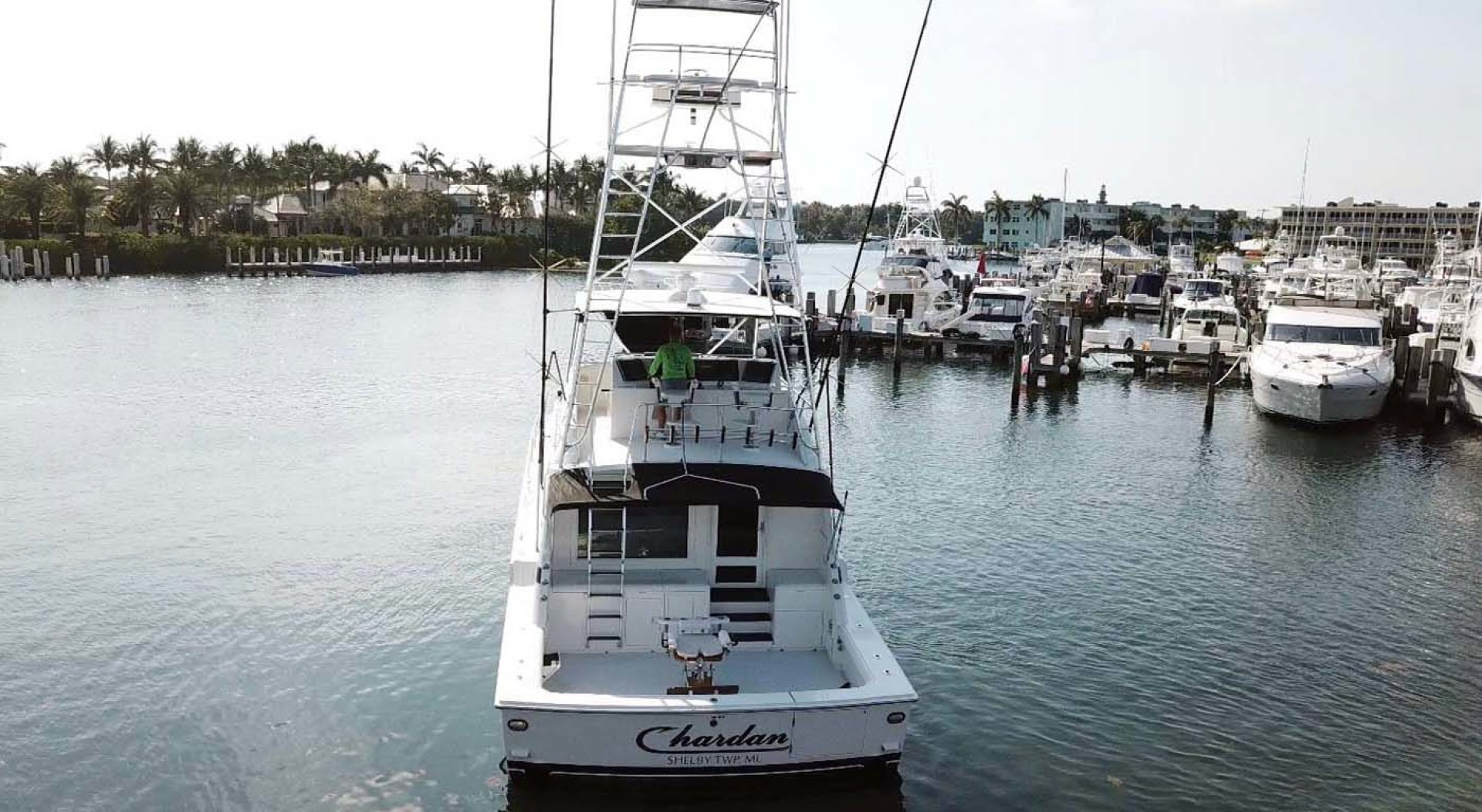 Bertram-60 Convertible 1998-CHARDAN Lighthouse Point-Florida-United States-Transom View-1124641 | Thumbnail