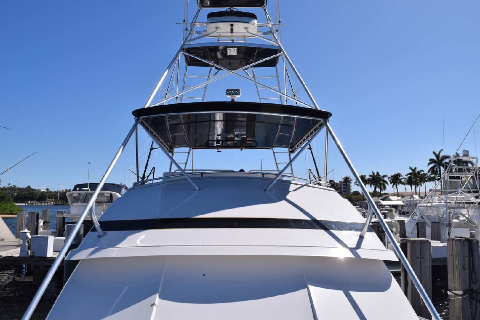 Bertram-60 Convertible 1998-CHARDAN Lighthouse Point-Florida-United States-Bow View to Tuna Tower-1122656 | Thumbnail