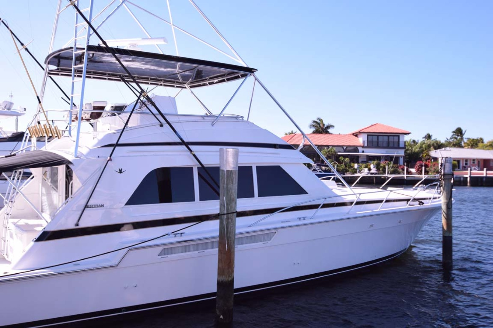 Bertram-60 Convertible 1998-CHARDAN Lighthouse Point-Florida-United States-Profile at Dock-1122616 | Thumbnail