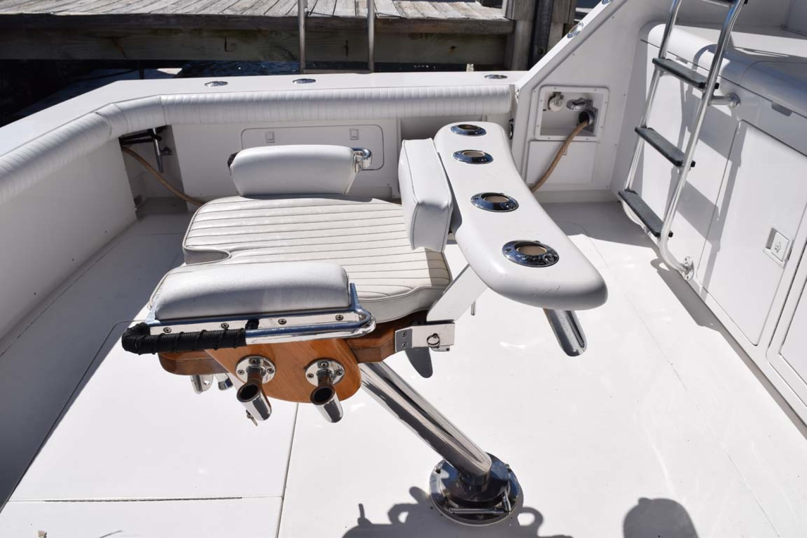 Bertram-60 Convertible 1998-CHARDAN Lighthouse Point-Florida-United States-Murray Brothers Chair Detail from Starboard-1122667 | Thumbnail
