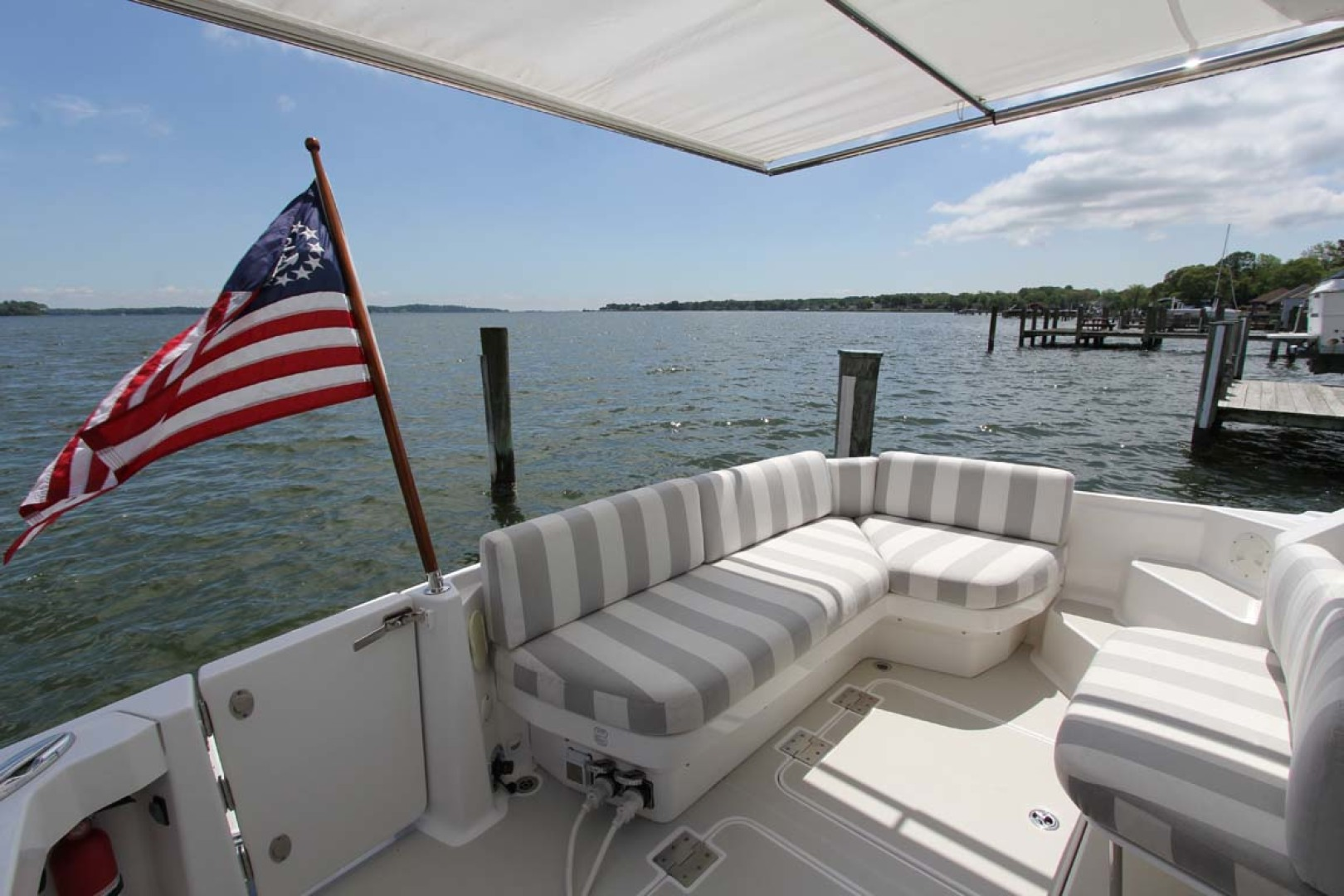 Back Cove-34 2015-Blue Chip Arnold-Maryland-United States-Cockpit With Sunshade-1152205 | Thumbnail