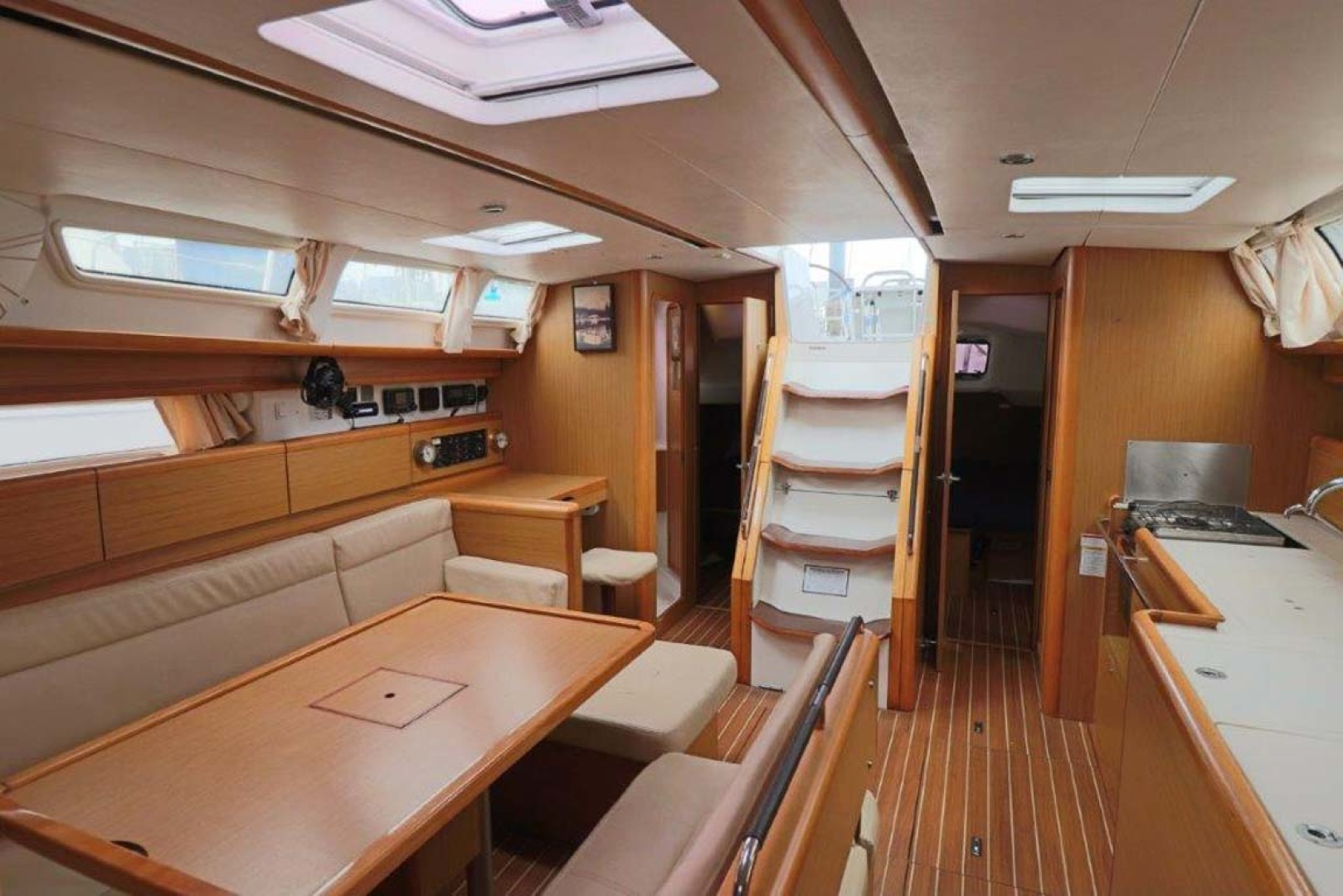 Jeanneau-Sun Odyssey 44i 2010-Intrigue Poulsbo-Washington-United States-Salon View From Master-1153322 | Thumbnail