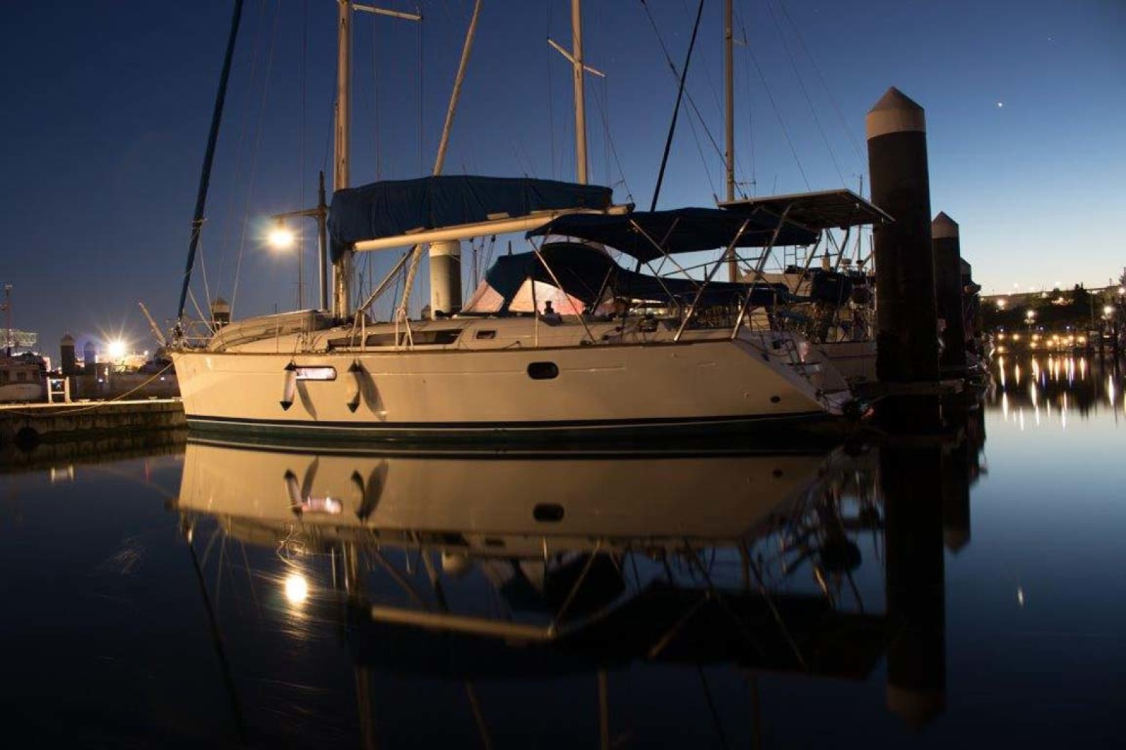 Jeanneau-Sun Odyssey 44i 2010-Intrigue Poulsbo-Washington-United States-Port View Night-1153350 | Thumbnail