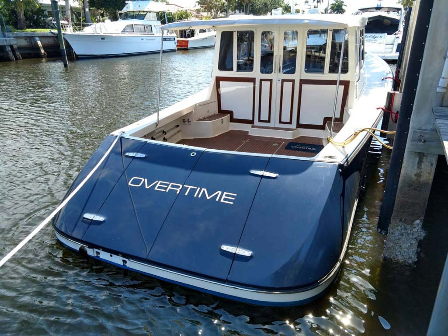 Pearson-True North Heritage 38 2005-OVERTIME Lauderdale By The Sea-Florida-United States-Stern View   Hinged Clamshell Transom-1164988   Thumbnail