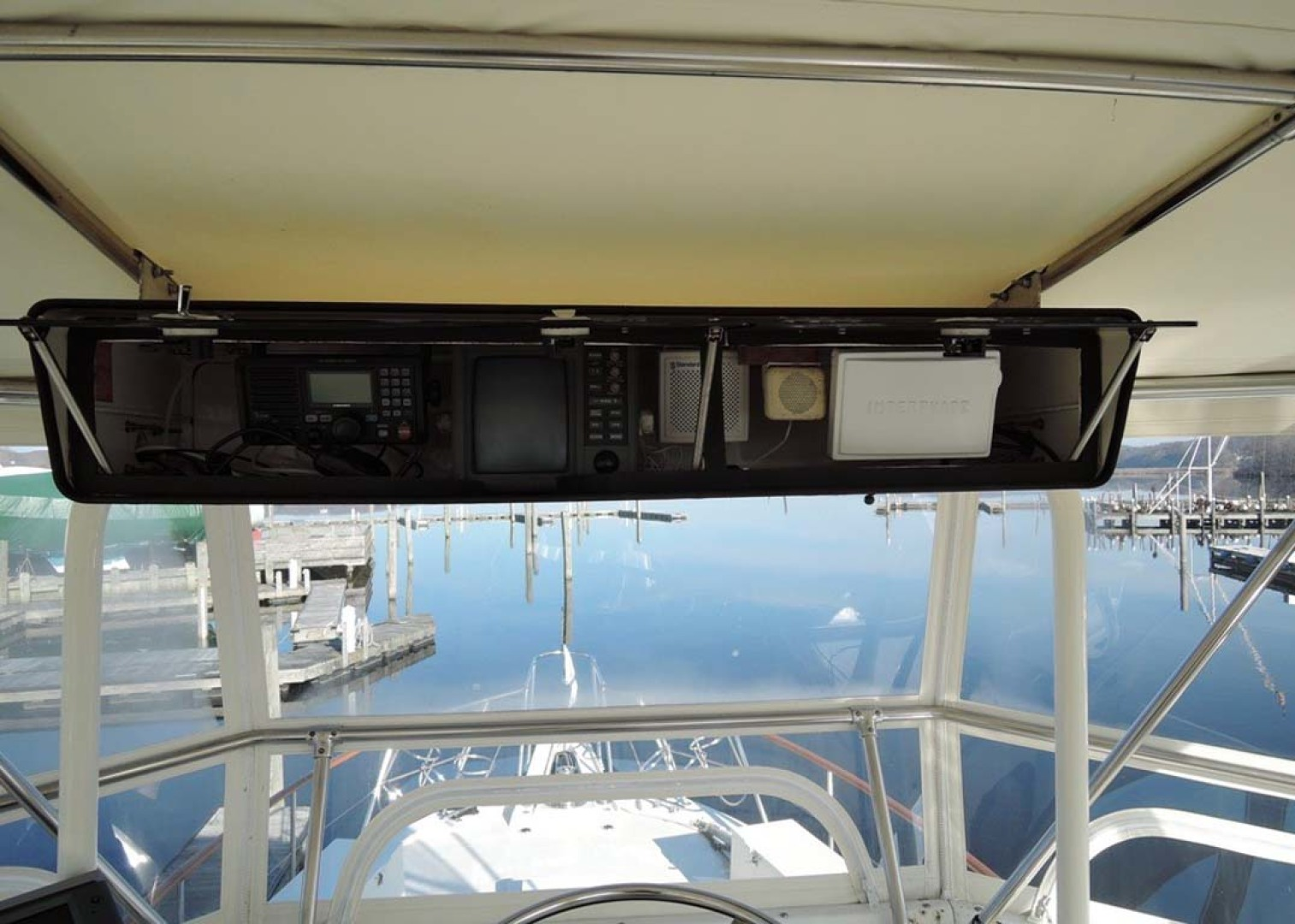 Hatteras-Cockpit Motoryacht 1983-Southern Cross Essex-Connecticut-United States-Overhead Electronics-1155700 | Thumbnail