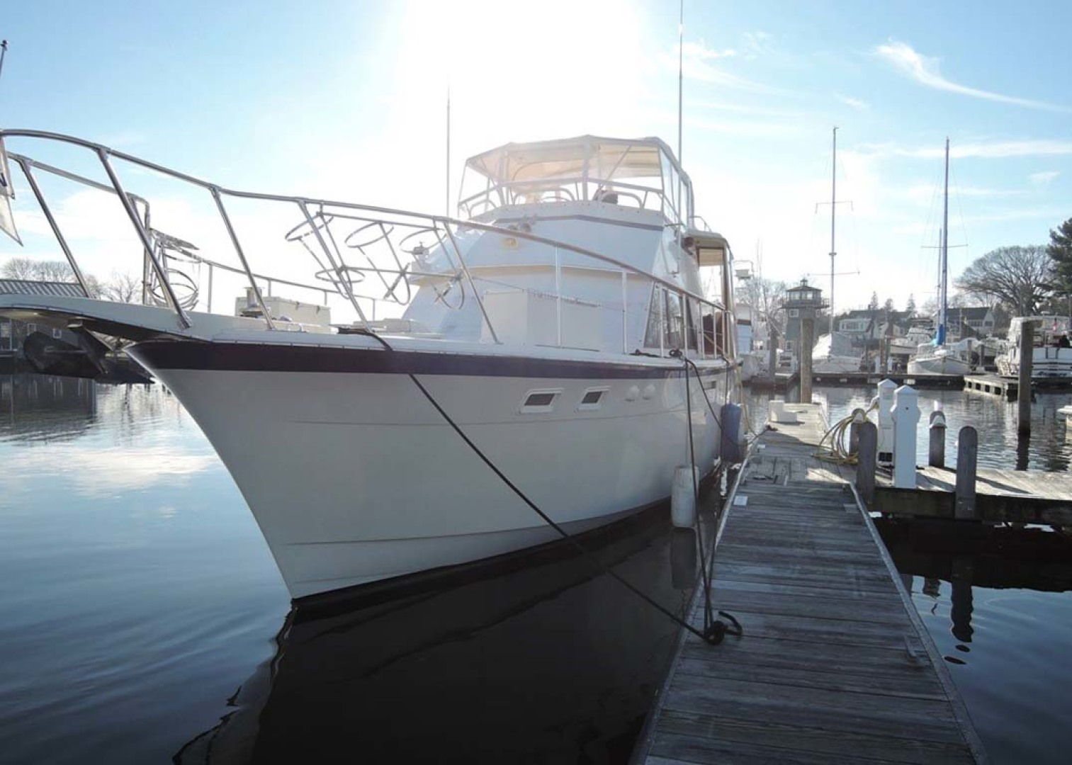Hatteras-Cockpit Motoryacht 1983-Southern Cross Essex-Connecticut-United States-Port Bow-1155697 | Thumbnail