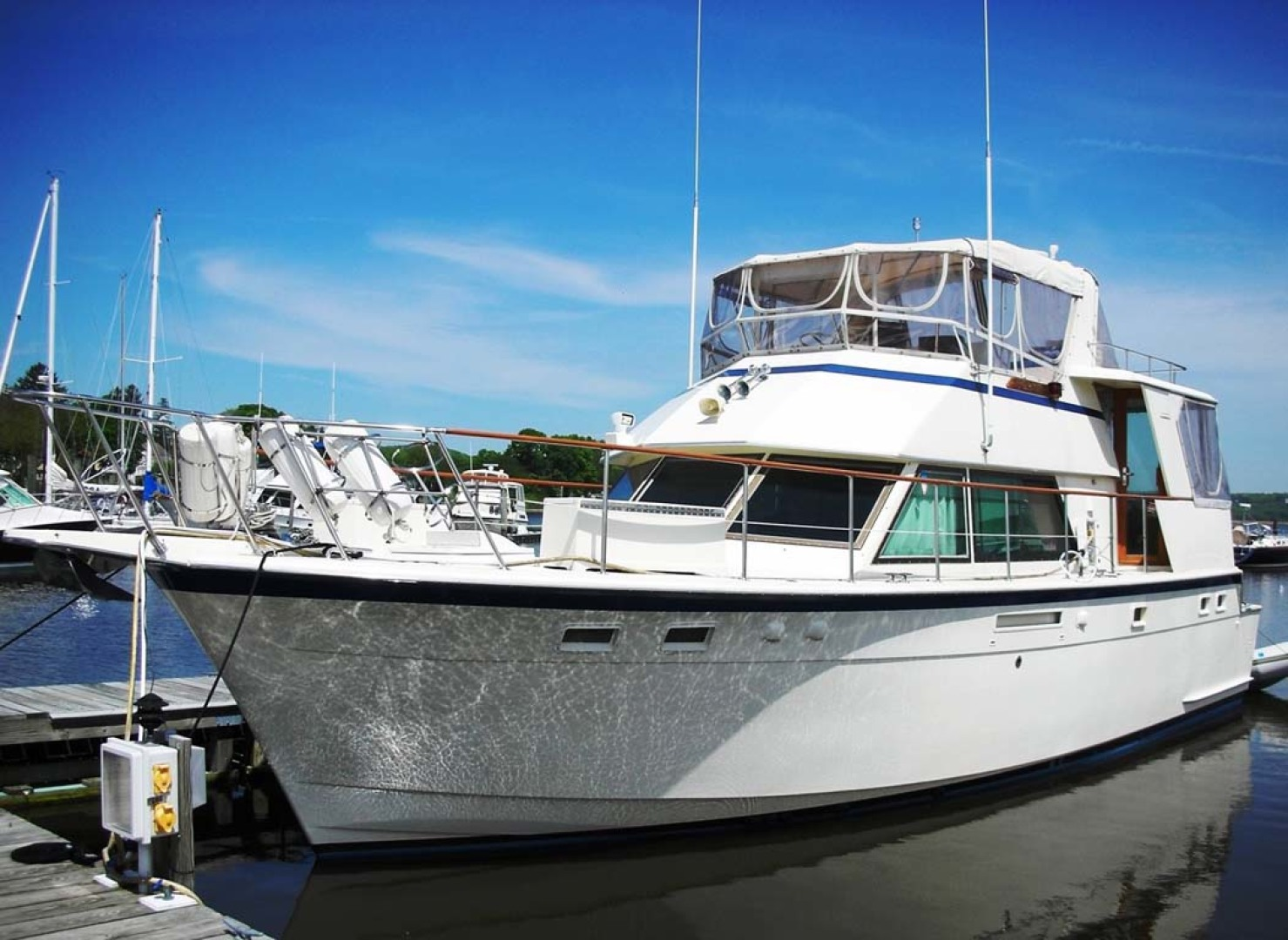 Hatteras-Cockpit Motoryacht 1983-Southern Cross Essex-Connecticut-United States-Main Profile-1155687 | Thumbnail