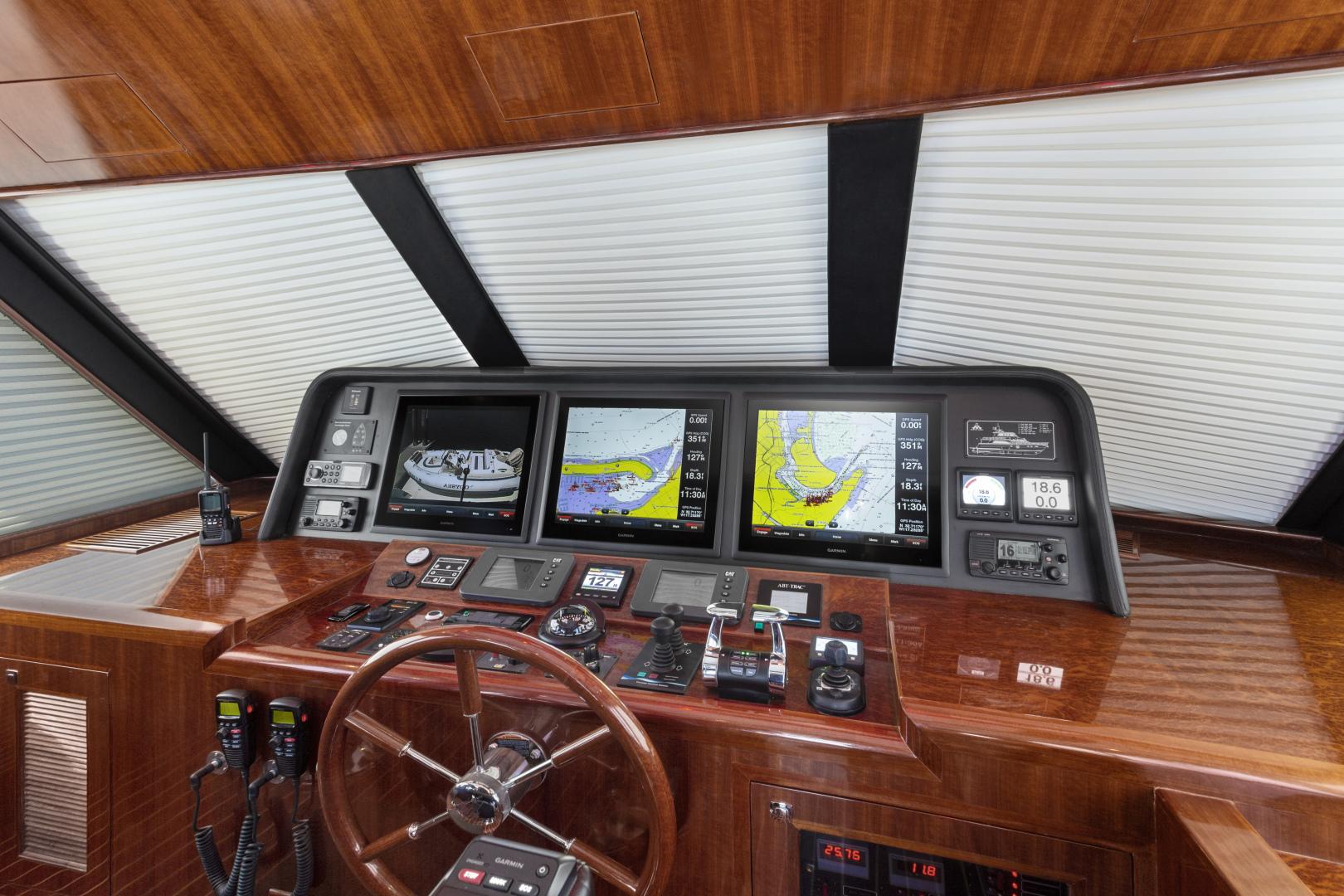 Hampton-76 Skylounge Motoryacht 2014-ODYSEA San Diego-California-United States-PILOTHOUSE-1165147 | Thumbnail