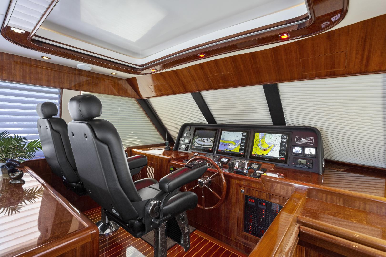 Hampton-76 Skylounge Motoryacht 2014-ODYSEA San Diego-California-United States-PILOTHOUSE-1165145 | Thumbnail