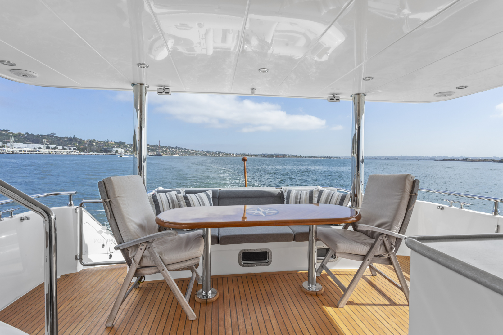 Hampton-76 Skylounge Motoryacht 2014-ODYSEA San Diego-California-United States-AFT DECK-1165183 | Thumbnail