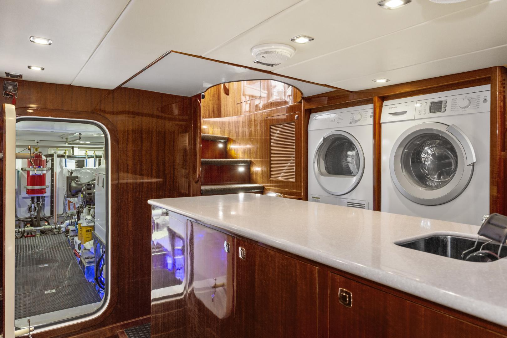 Hampton-76 Skylounge Motoryacht 2014-ODYSEA San Diego-California-United States-UTILITY ROOM-1165174 | Thumbnail