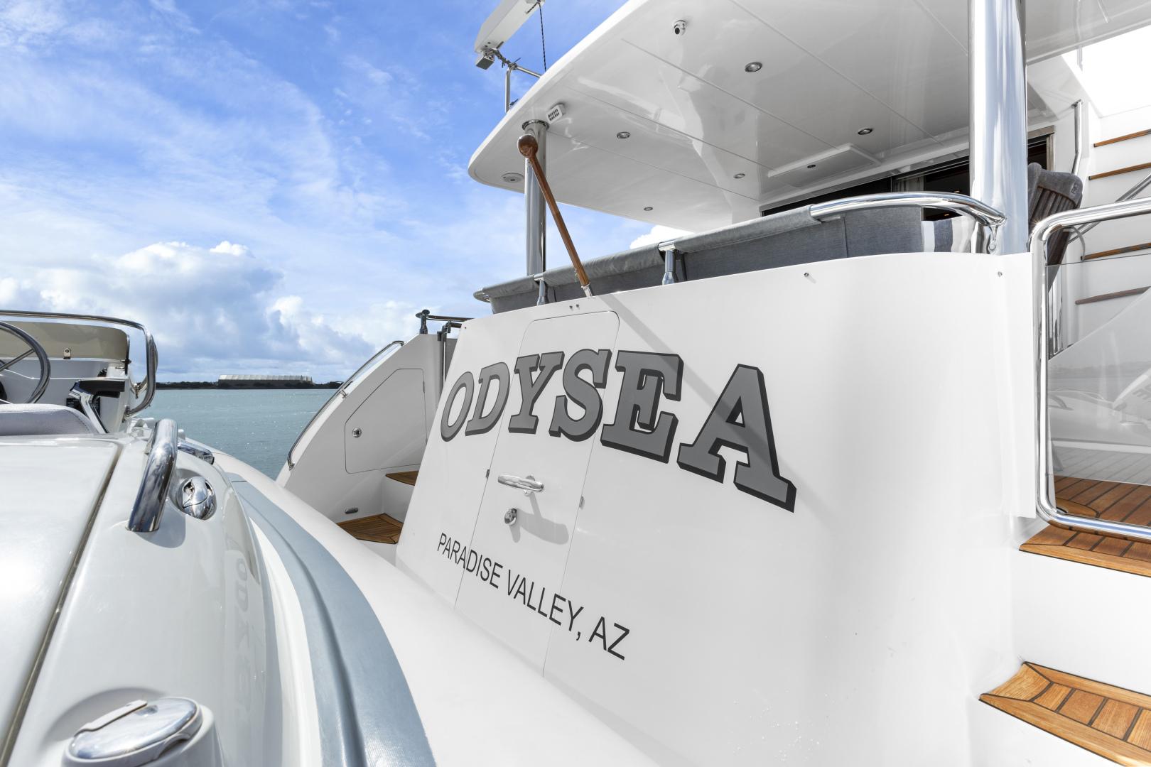 Hampton-76 Skylounge Motoryacht 2014-ODYSEA San Diego-California-United States-STERN-1165193 | Thumbnail
