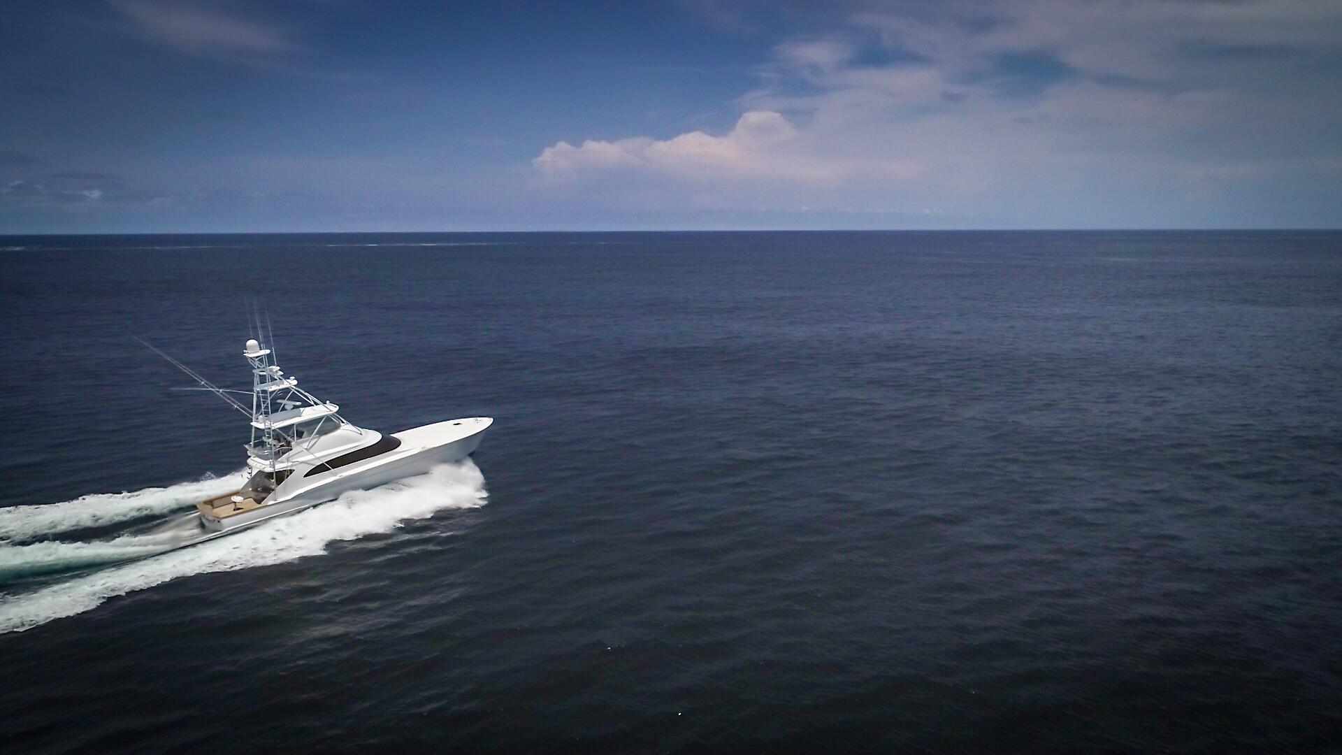 F&S-63 Convertible 2005-Sea Angel Anna Maria-Florida-United States-2005 F&S 63 Convertible  Sea Angel Starboard Forward Running View-1159340   Thumbnail