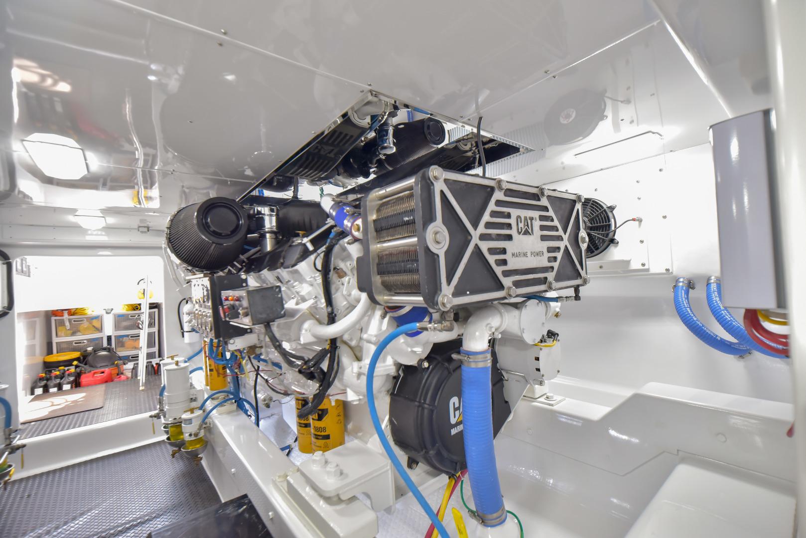 F&S-63 Convertible 2005-Sea Angel Anna Maria-Florida-United States-2005 F&S 63 Convertible  Sea Angel Engine Room-1159300   Thumbnail