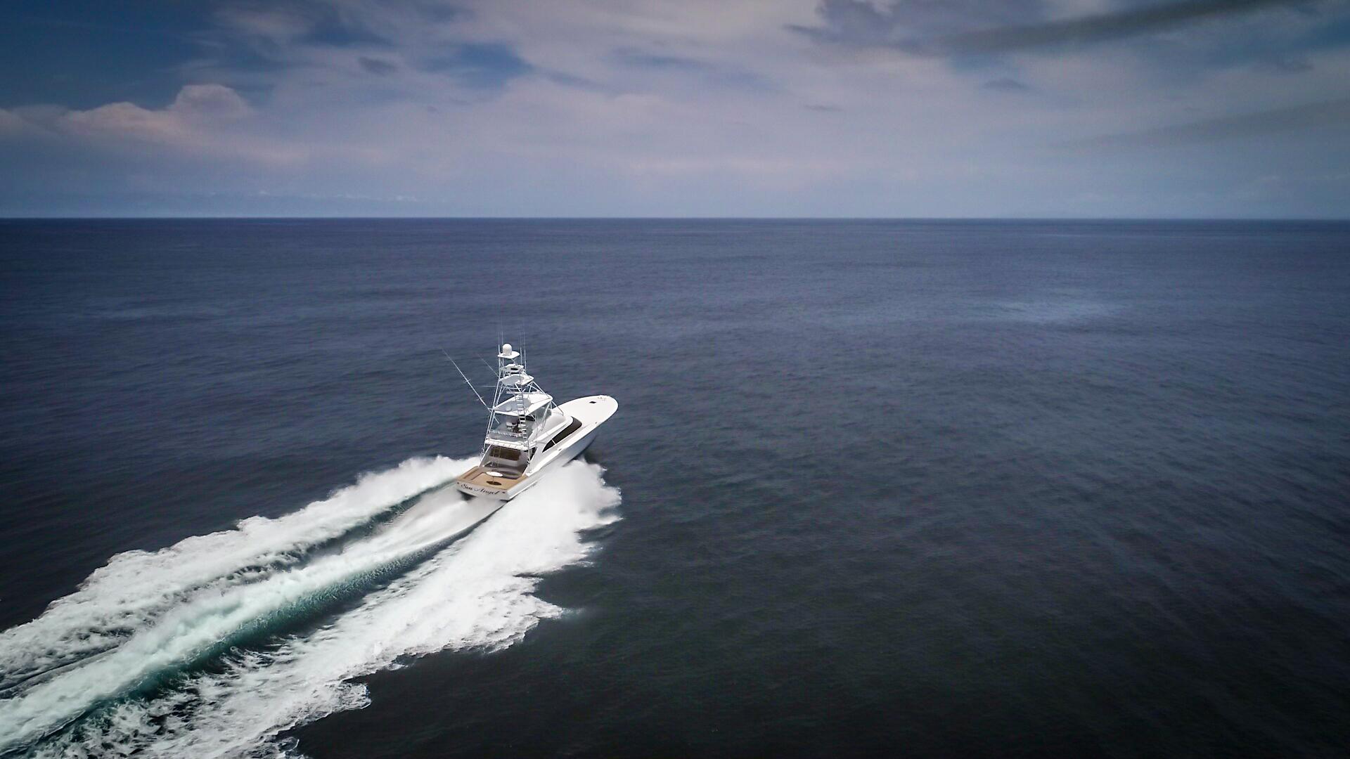 F&S-63 Convertible 2005-Sea Angel Anna Maria-Florida-United States-2005 F&S 63 Convertible  Sea Angel Starboard Forward Running View-1159336   Thumbnail