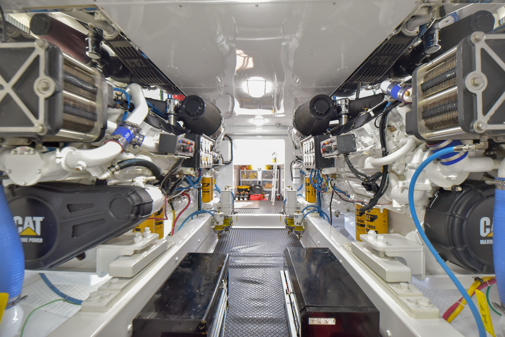 F&S-63 Convertible 2005-Sea Angel Anna Maria-Florida-United States-2005 F&S 63 Convertible  Sea Angel Engine Room-1159303   Thumbnail