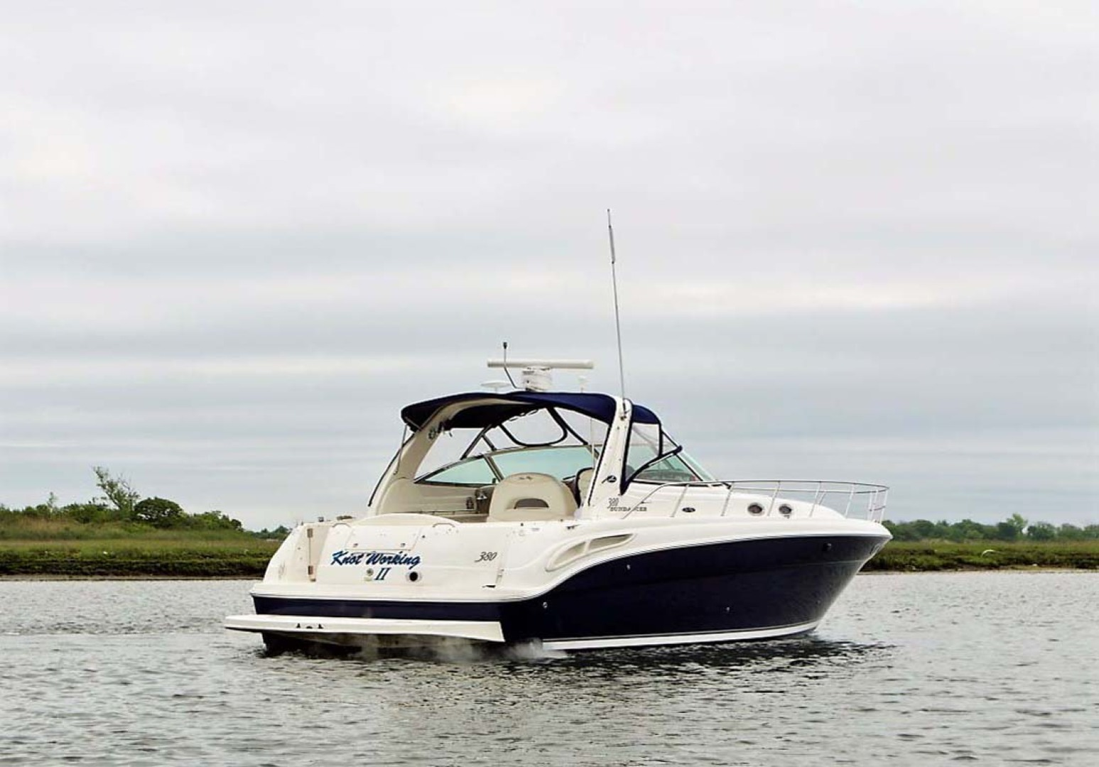 Sea Ray-380 Sundancer 2004-Knot Working II Freeport-New York-United States-Starboard Aft Quarter-1162261 | Thumbnail